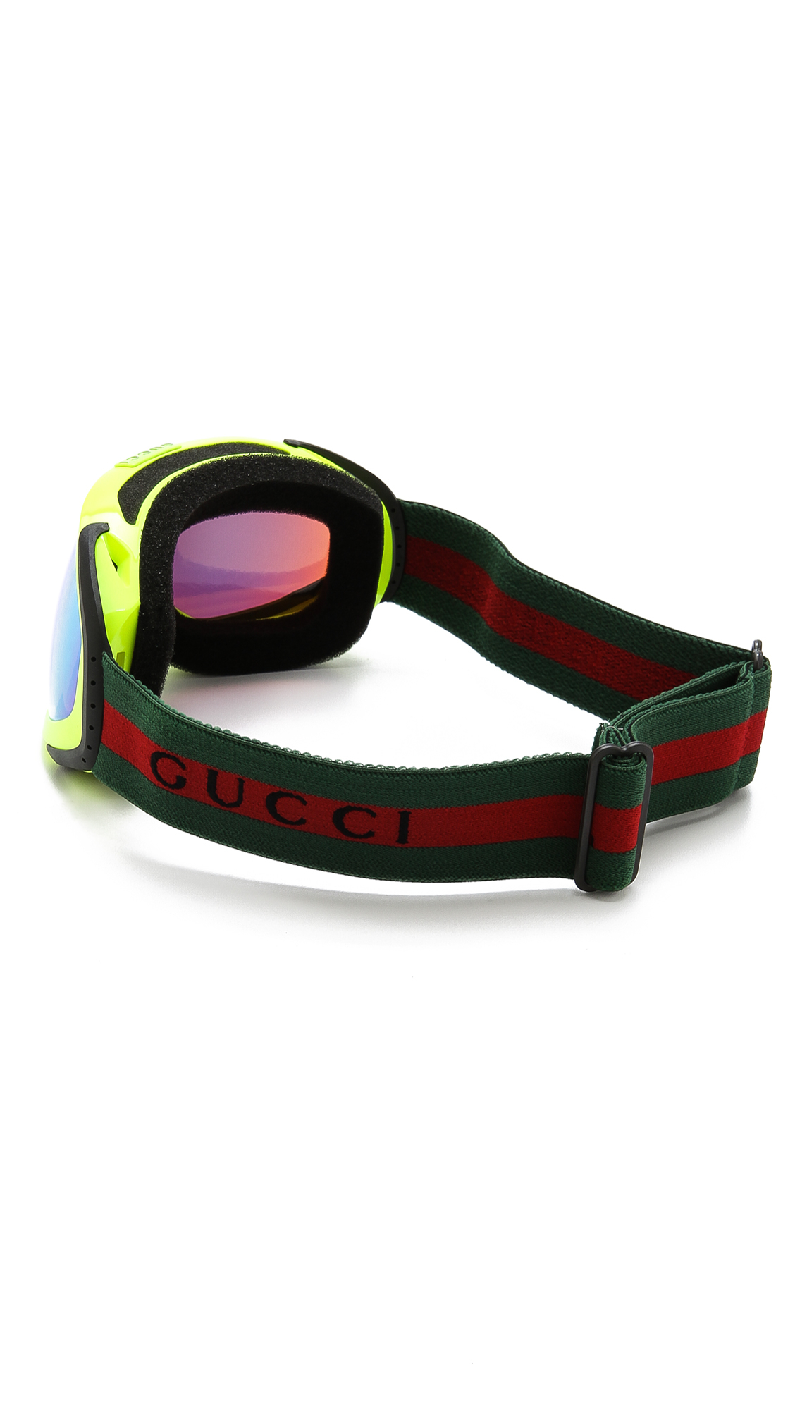 baf92267ba6e Lyst - Gucci Ski Goggles with Fluorescent Lens in Yellow for Men