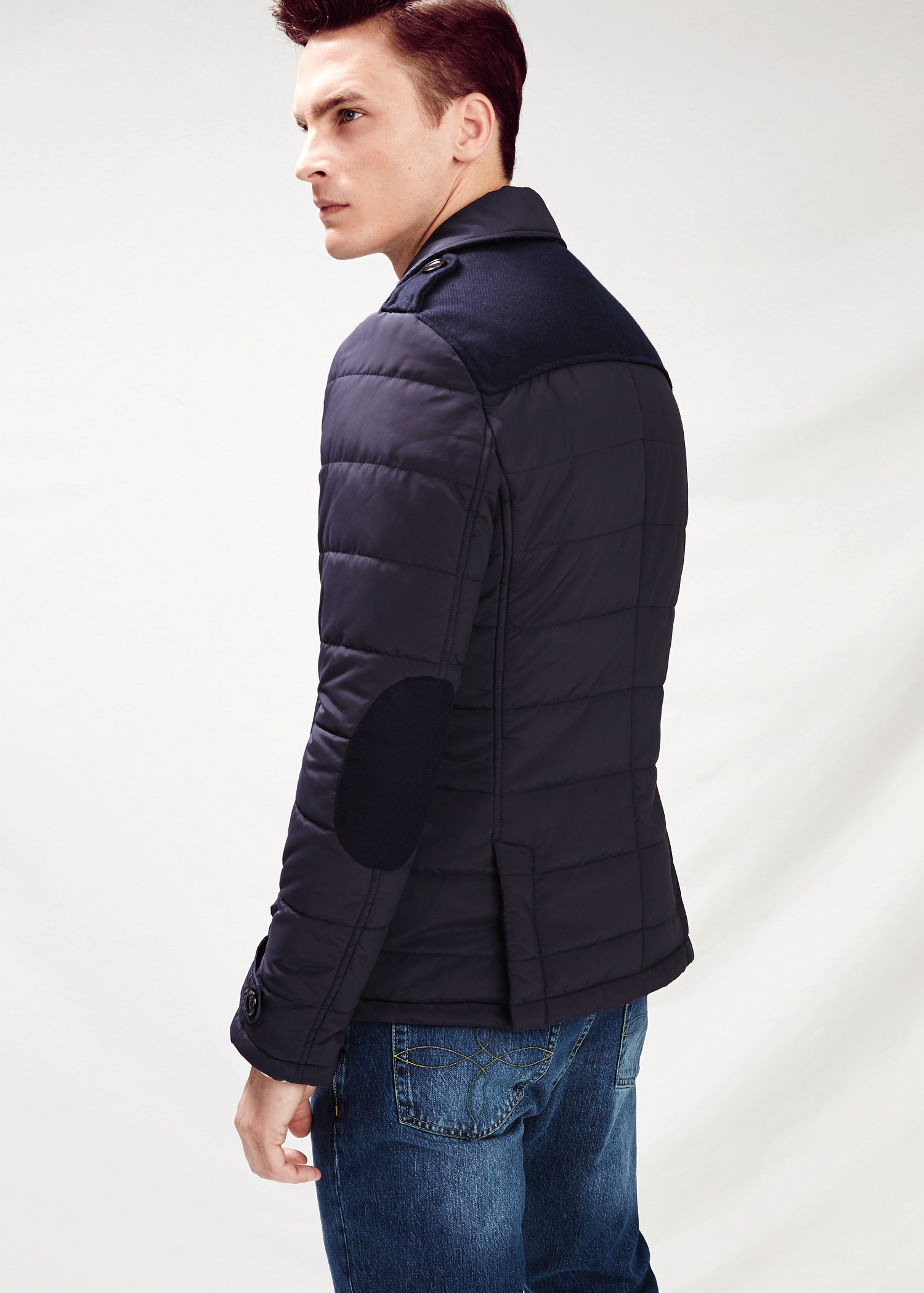 Mango Quilted Peacoat in Blue for Men | Lyst : quilted pea coat - Adamdwight.com