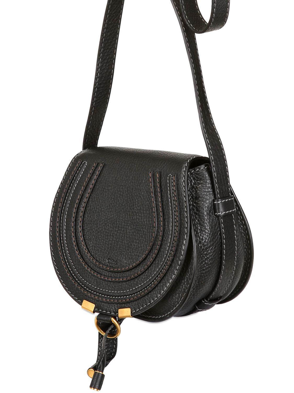 chloe handbags fake - Chlo�� Small Marcie Leather Crossbody Bag in Black | Lyst