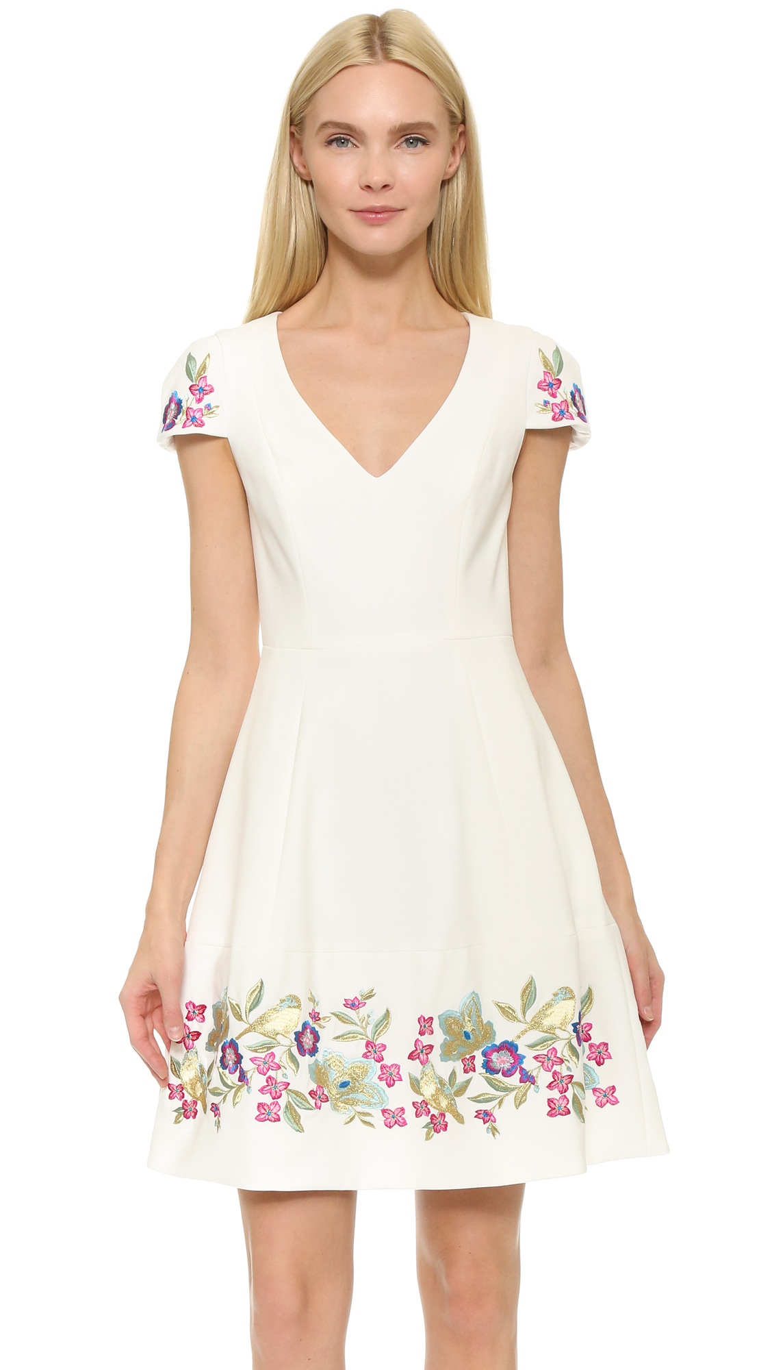 Lyst Notte By Marchesa Embroidered Cocktail Dress In White