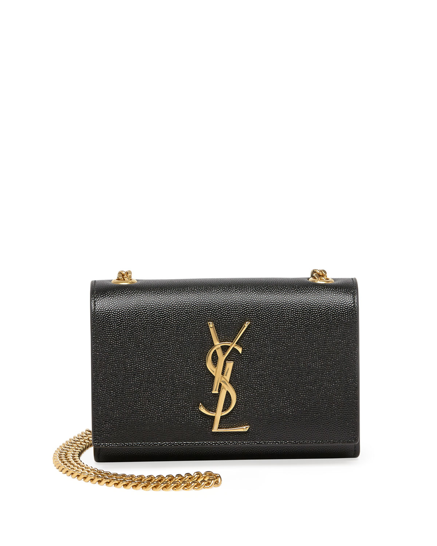 Lyst Saint Laurent Monogram Leather Crossbody Bag In Black