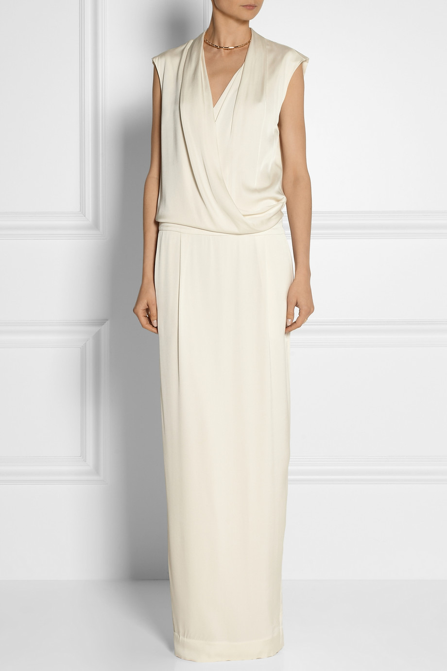 Malene birger dress white and gold