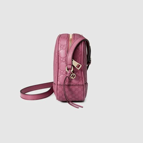 3825b08998c1d2 Gucci Bree Guccissima Mini Messenger Bag in Pink - Lyst
