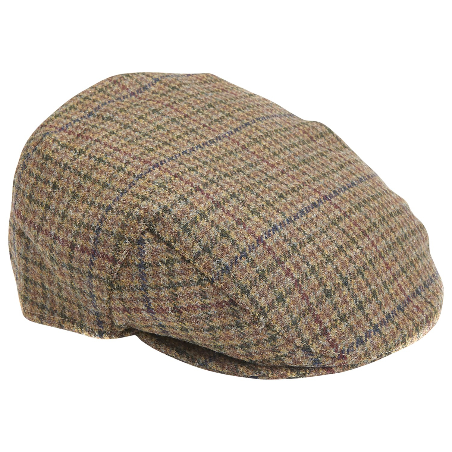 1479b5b7672 Barbour Wool Crieff Check Flat Cap in Green for Men - Lyst