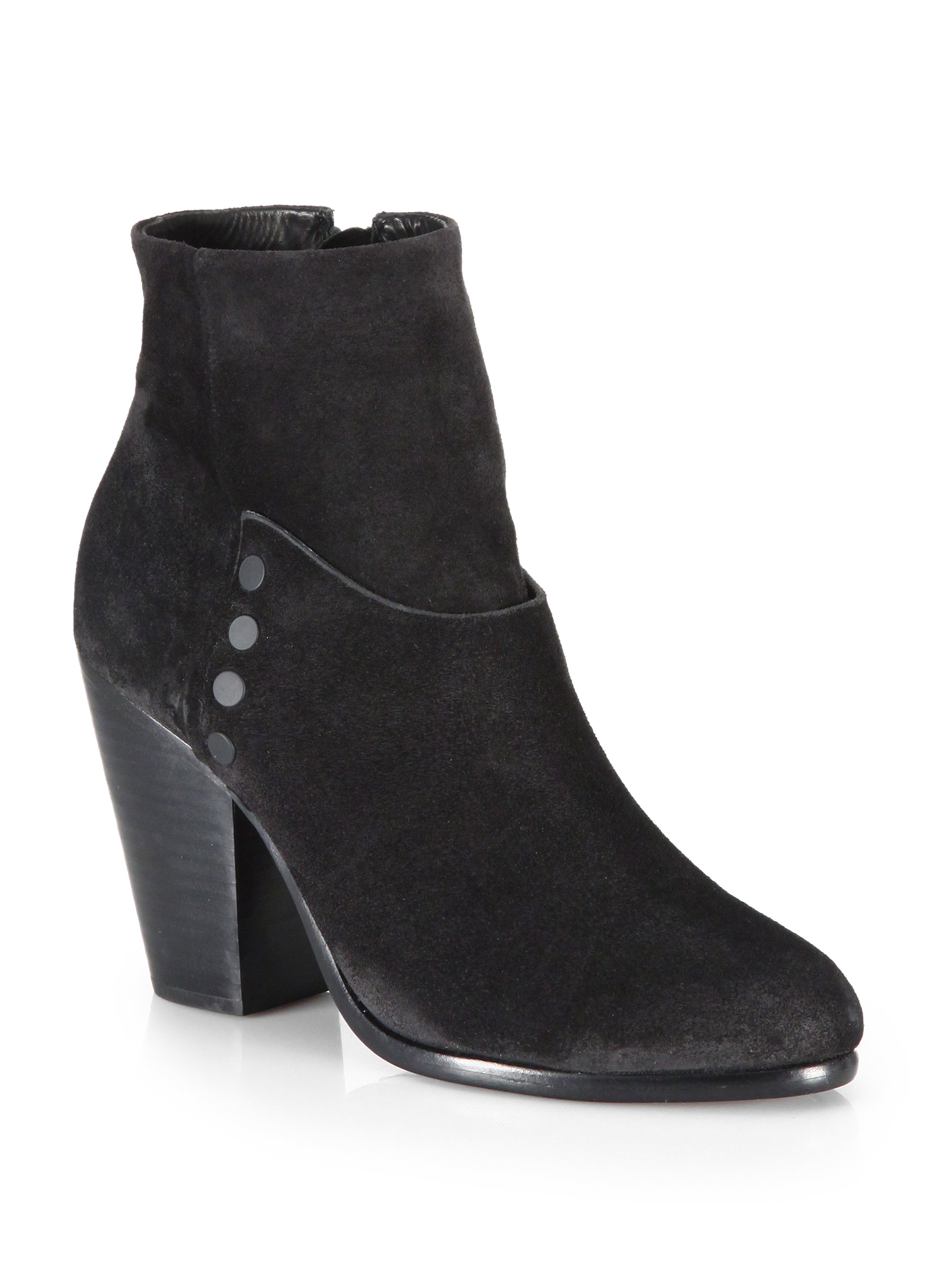rag bone kendall suede ankle boots in black save 50