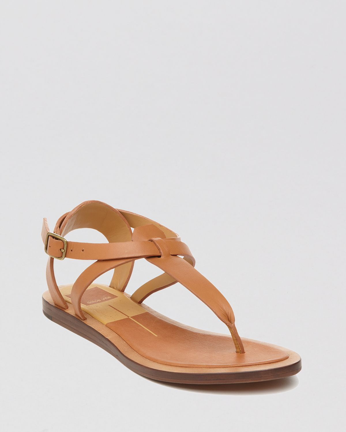 Gallery - Dolce Vita Flat Thong Sandals - Fabia In Brown Lyst