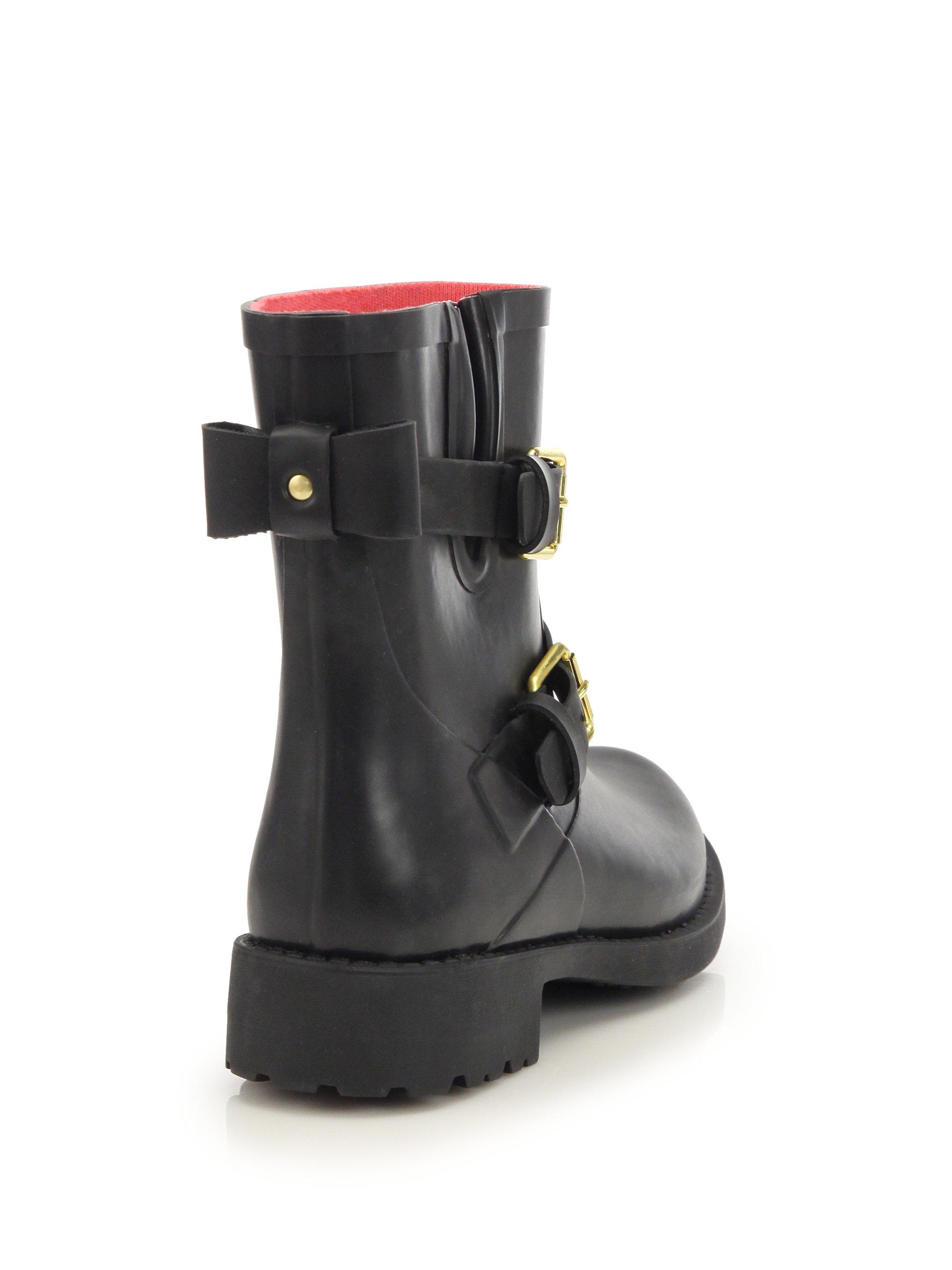 07f00985934d Lyst - Kate Spade Pamela Rubber Rain Boots in Black