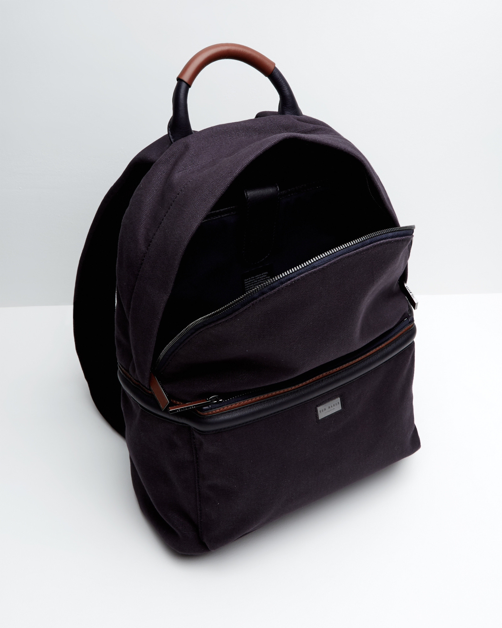 Ted baker Canvas And Leather Trim Rucksack in Blue for Men | Lyst