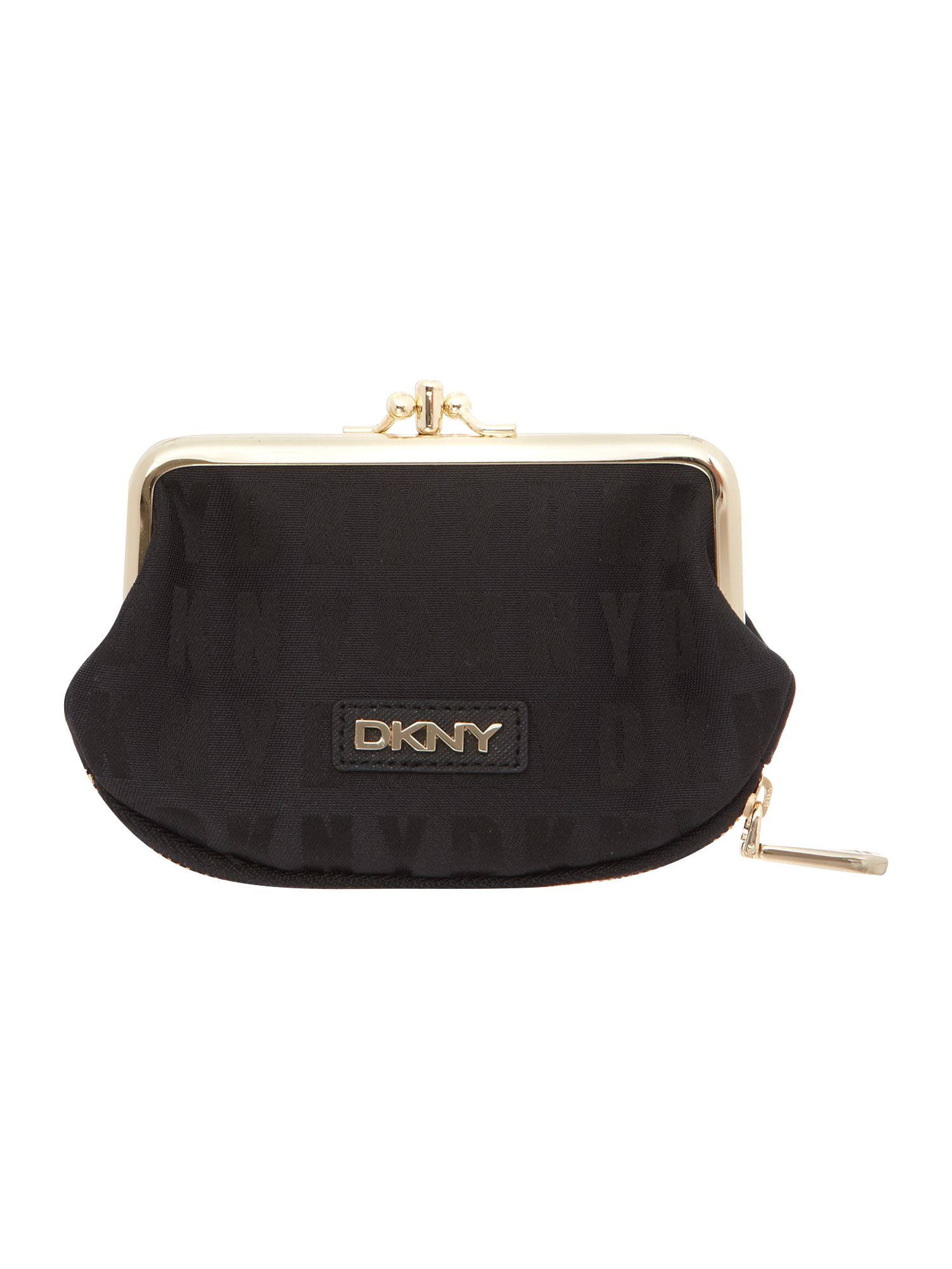 lyst dkny black double frame small purse in black
