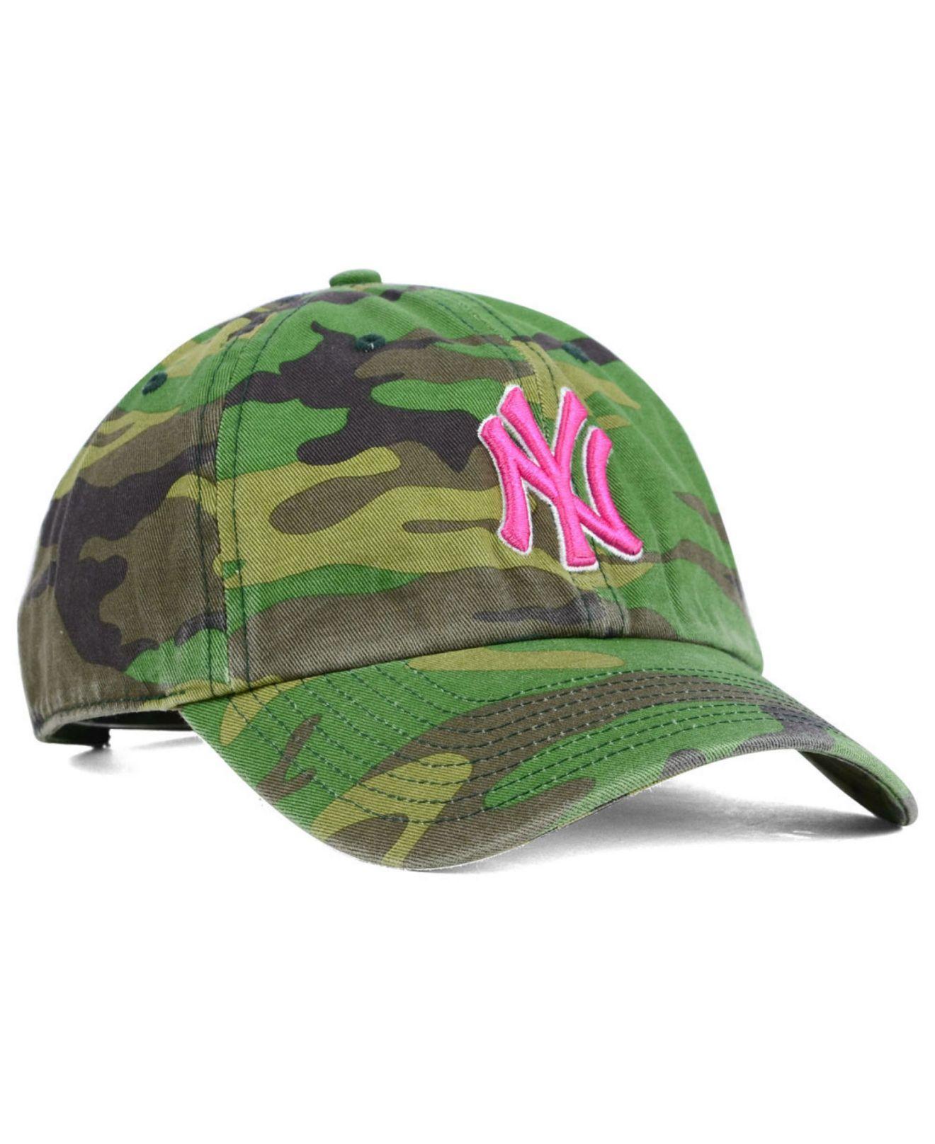 ab76aafe0c6 Lyst - 47 Brand Women s New York Yankees Clean Up Cap in Green