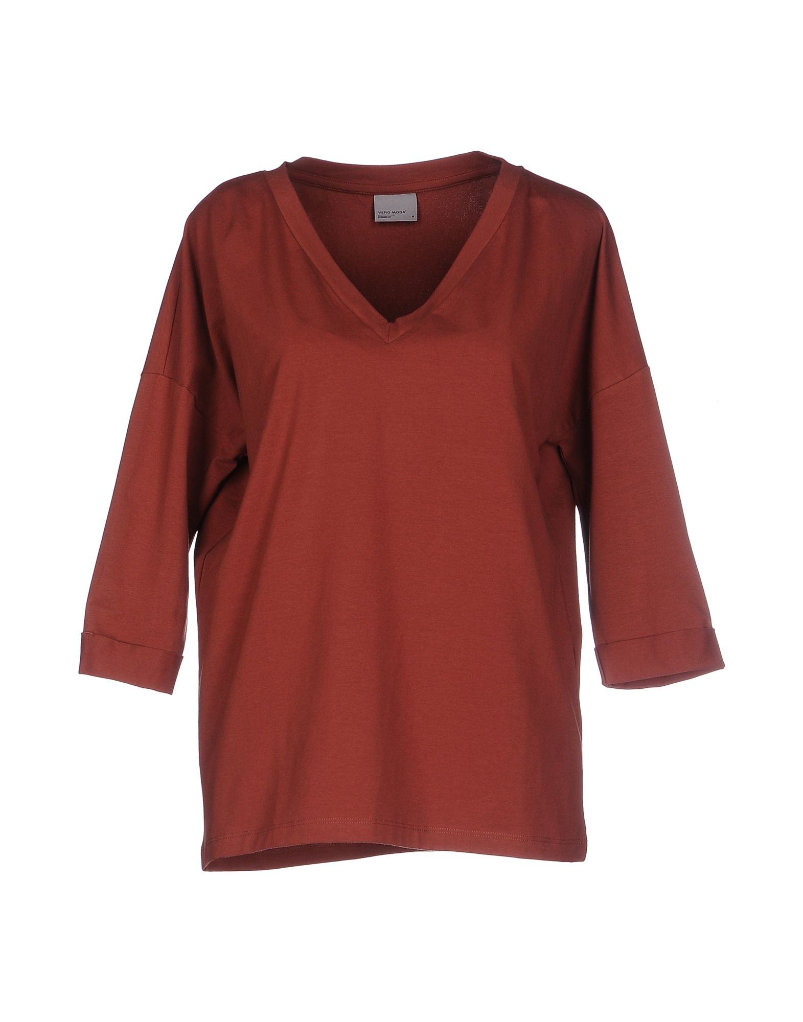 vero moda t shirt in red lyst. Black Bedroom Furniture Sets. Home Design Ideas