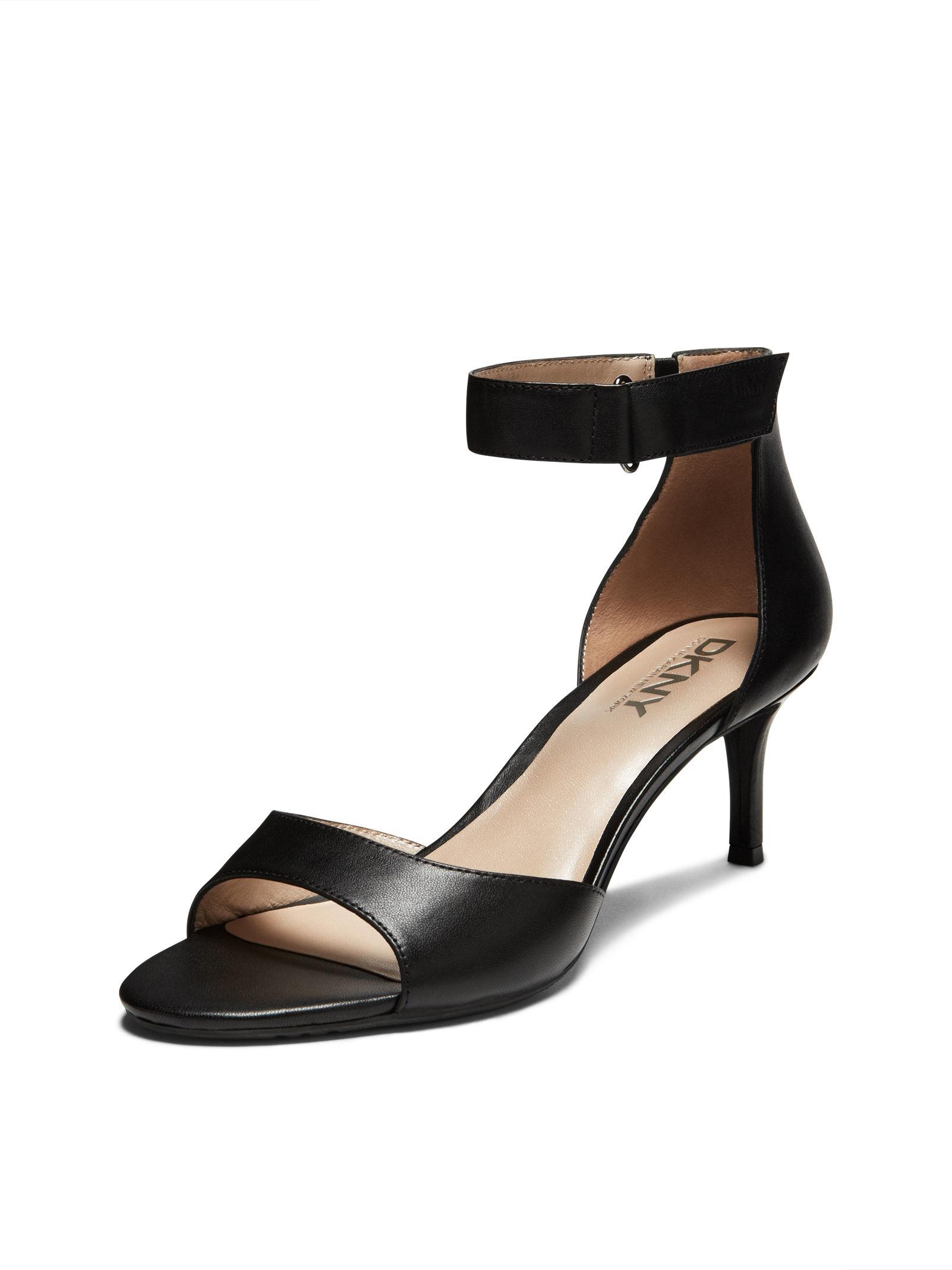 Dkny Gianna Kitten Heel Sandal in Black | Lyst