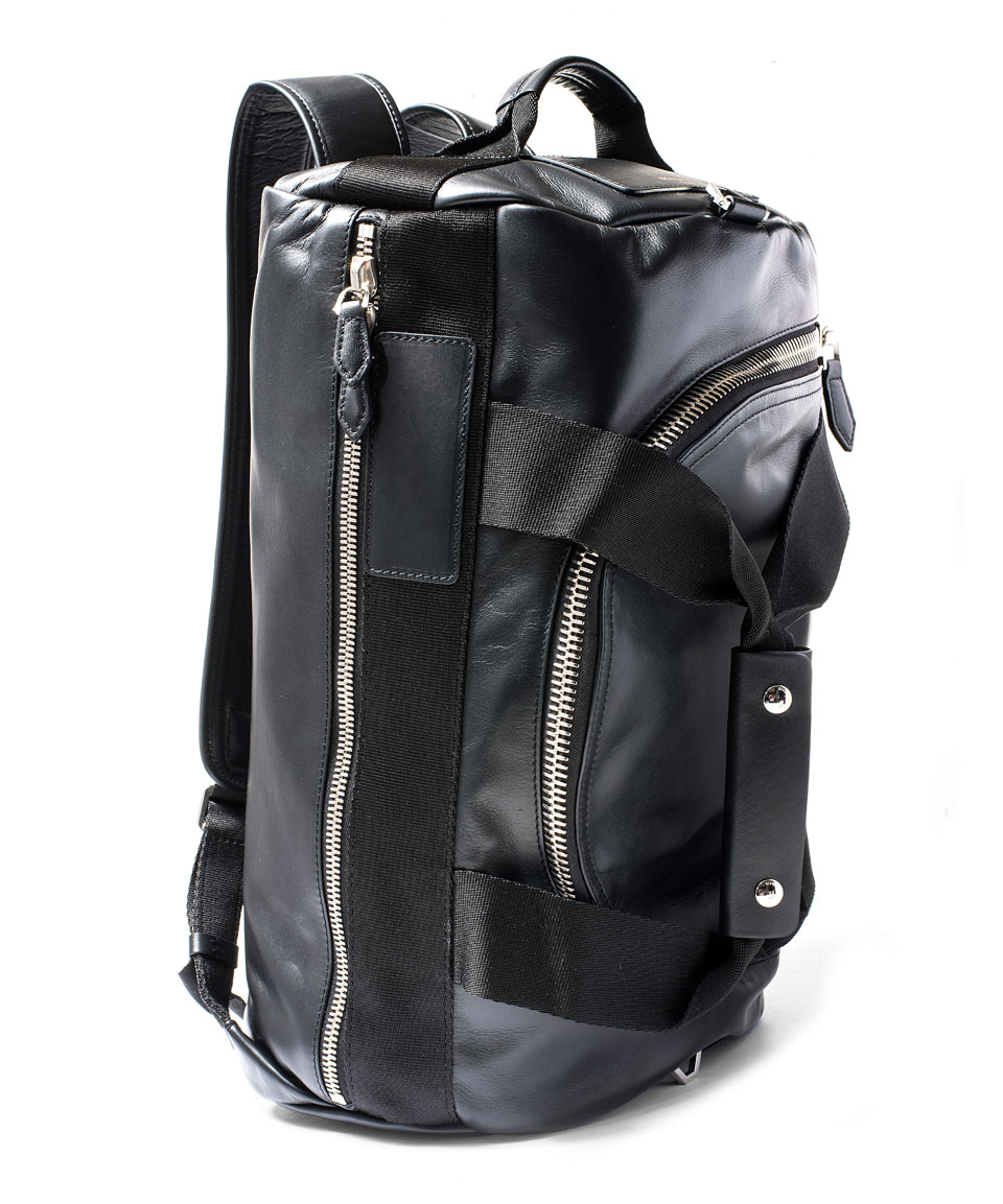 b2bd29e167 Lyst - Givenchy Black Convertible Leather Duffle Backpack in Black ...