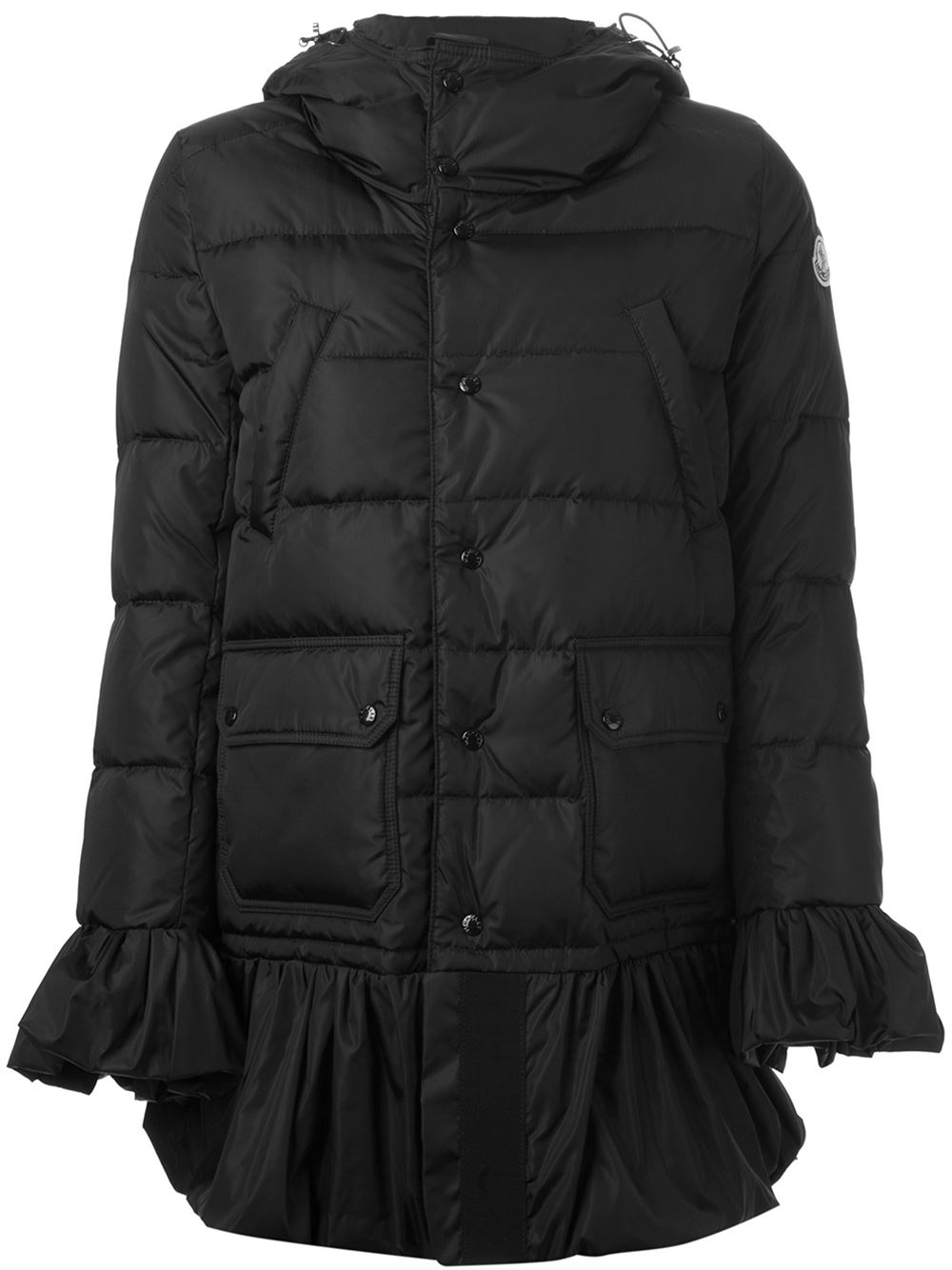 Moncler &39serre&39 Padded Coat in Black | Lyst