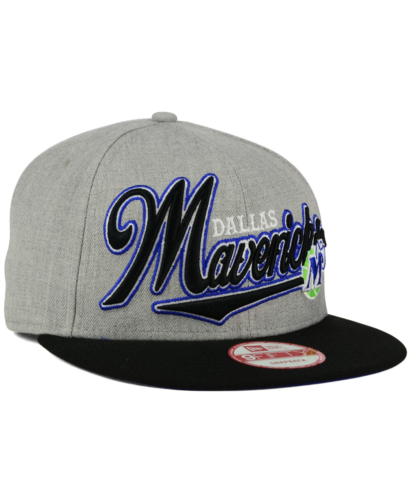 newest 3966e b8eab ... top quality lyst ktz dallas mavericks big heather 9fifty snapback cap  in gray d8cf4 c0cb1