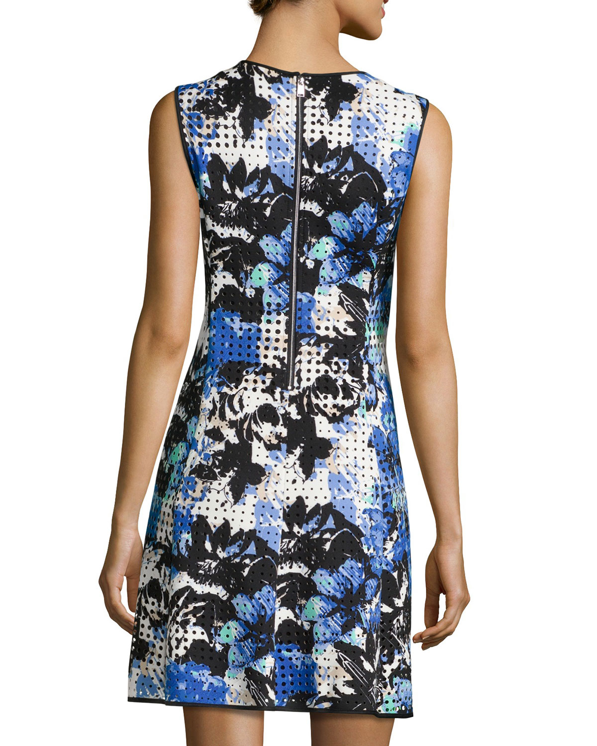 Lyst Marc New York Perforated Sleeveless Scuba Dress In