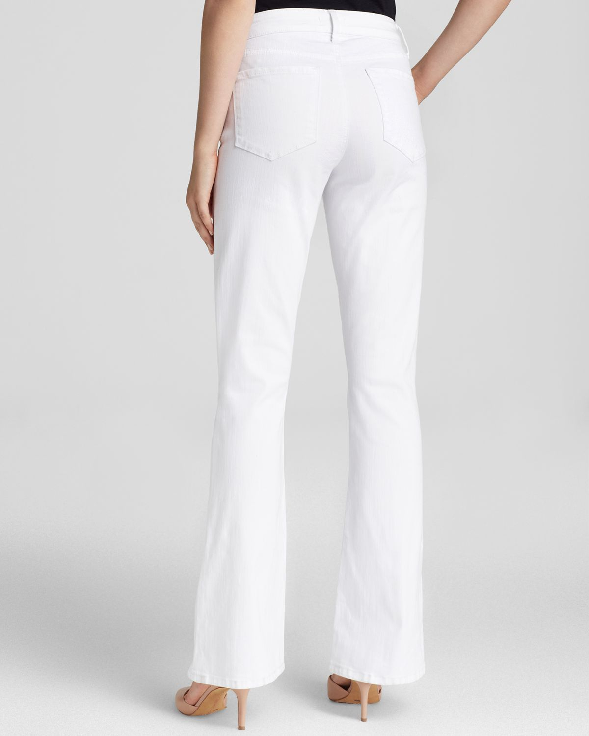 Nydj Flare Leg Jeans In Optic White - Bloomingdale's Exclusive in ...