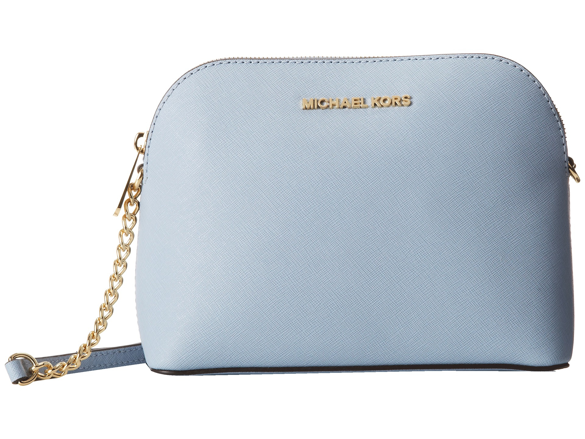 69cb4ac66362 ireland lyst michael michael kors cindy large dome crossbody in blue 6076c  87a8f