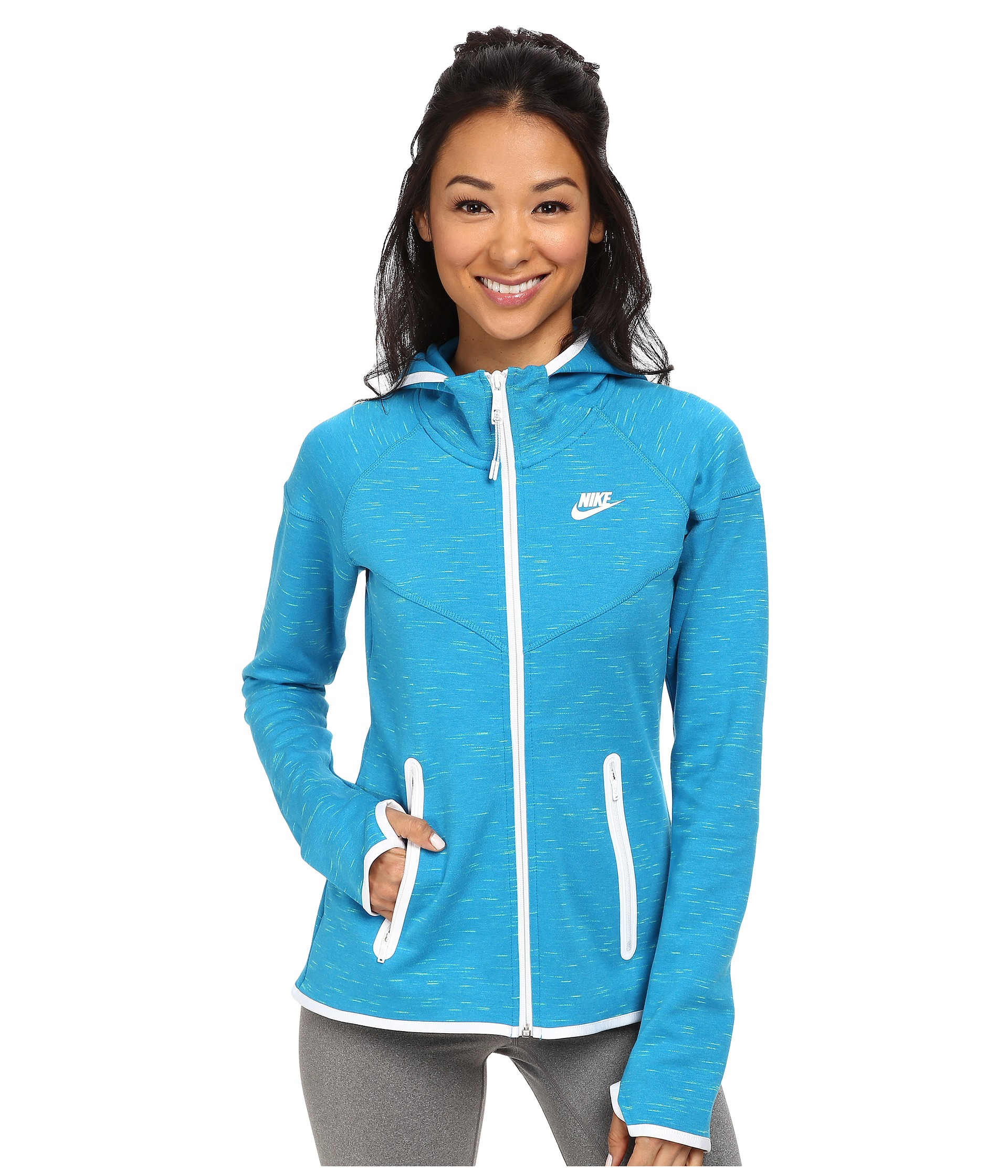 cd86961f5319 Lyst - Nike Tech Fleece Full-Zip Hoodie in Blue
