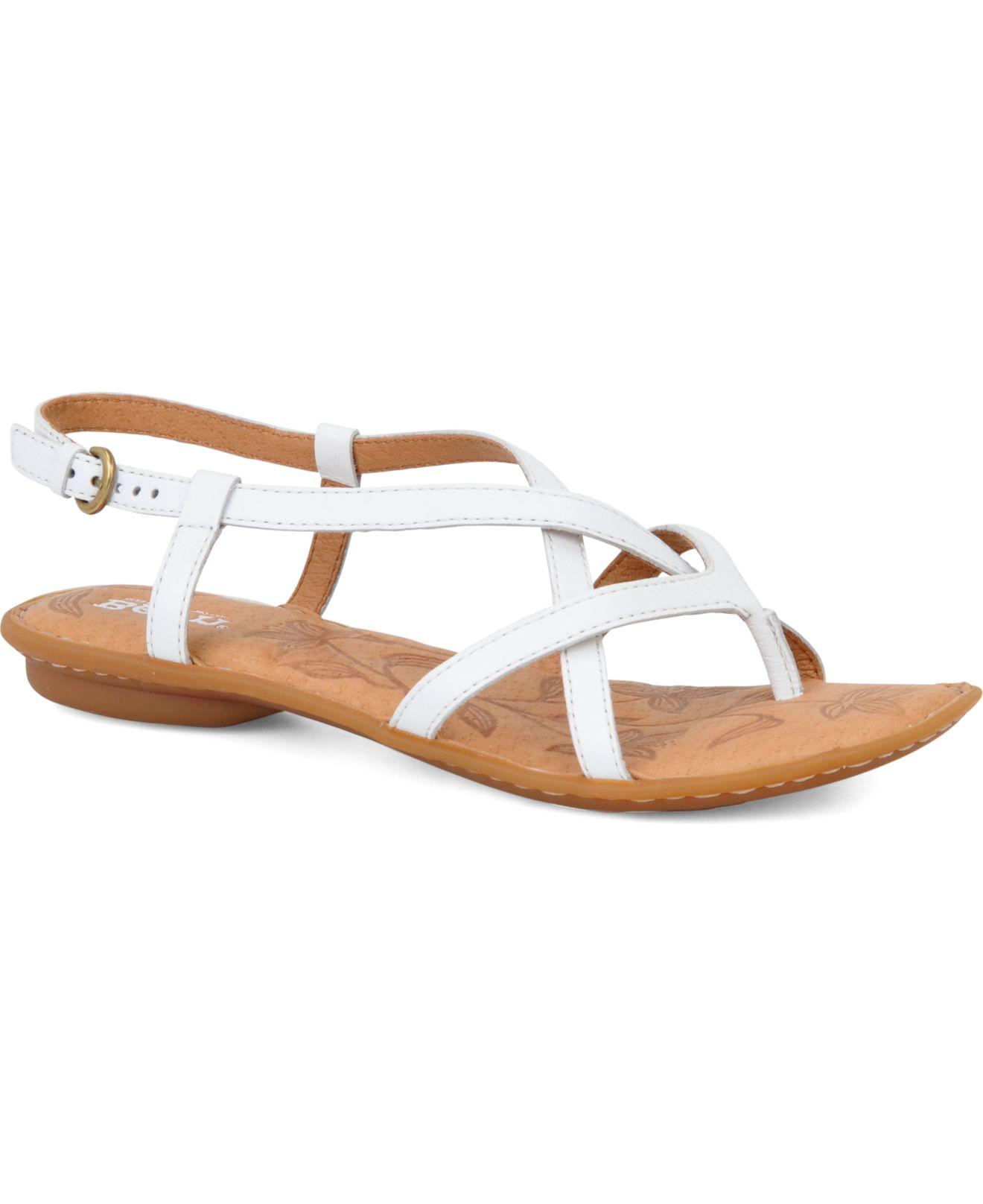9b804af848fd Lyst - Born Mai Flat Sandals in White