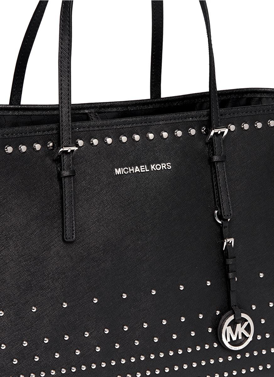 e6707aa3c ... gallery; michael kors aria studded tel medium convertible leather  shoulder crossbody bag purse handbag black; prevnext ...
