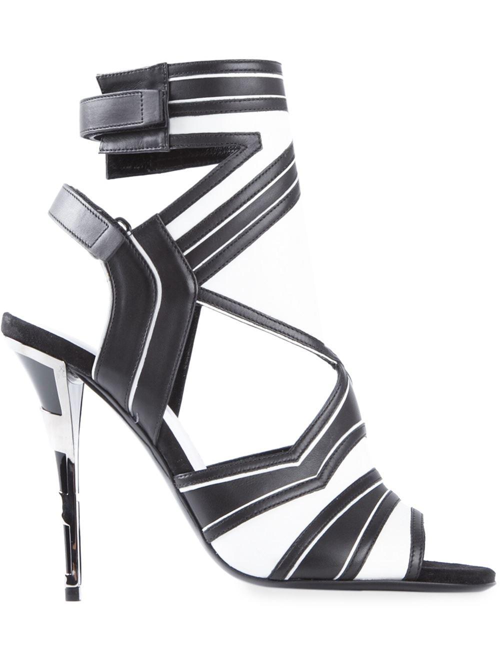 4879026fe Lyst - Balmain Strappy Sandals in Black