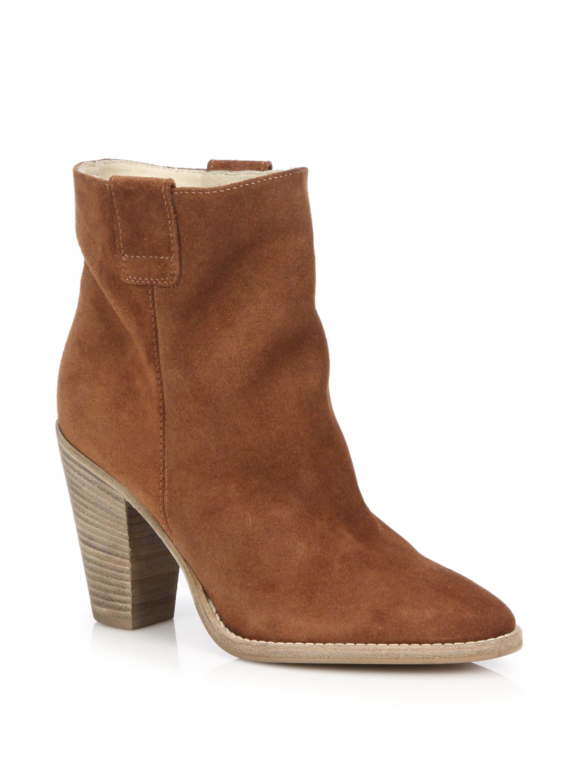 aquatalia flo heeled suede boots in lyst
