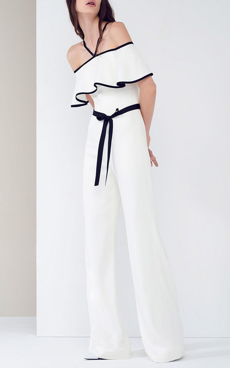 Alexis Spencer Off-the-shoulder Jumpsuit in White | Lyst