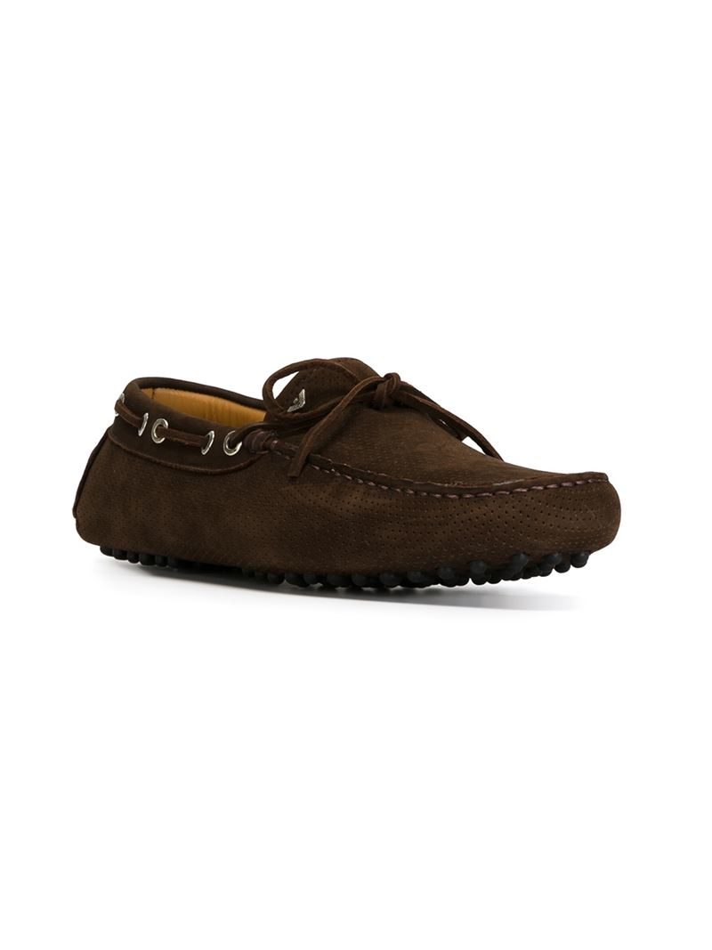 Brown Driver Shoes With Jeans Men