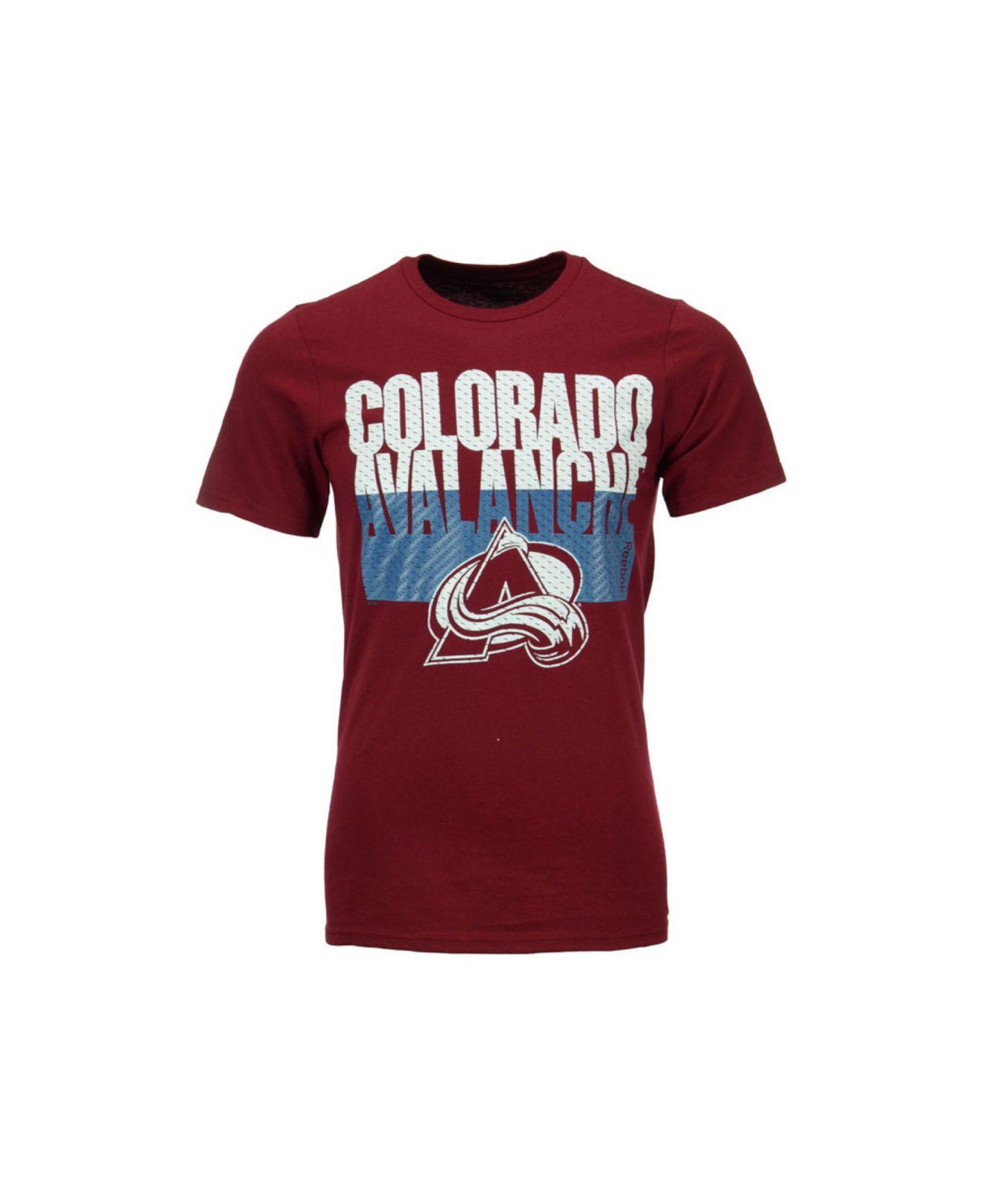 lyst reebok s colorado avalanche split time t shirt