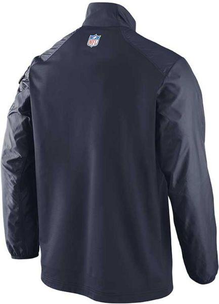 Nike Mens Chicago Bears Alt Hybrid Halfzip Jacket In Blue