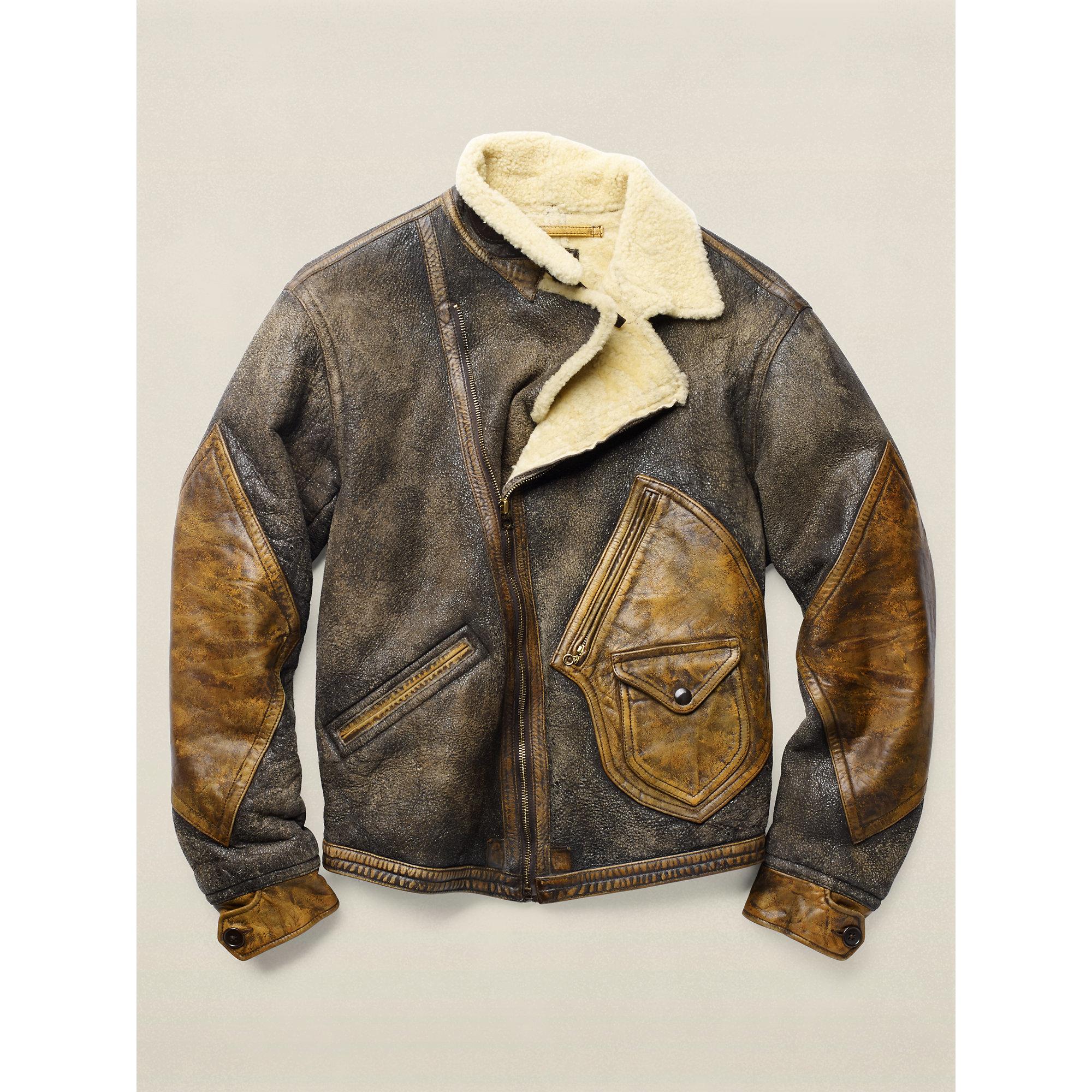 Rrl Shearling Jacket for Men | Lyst
