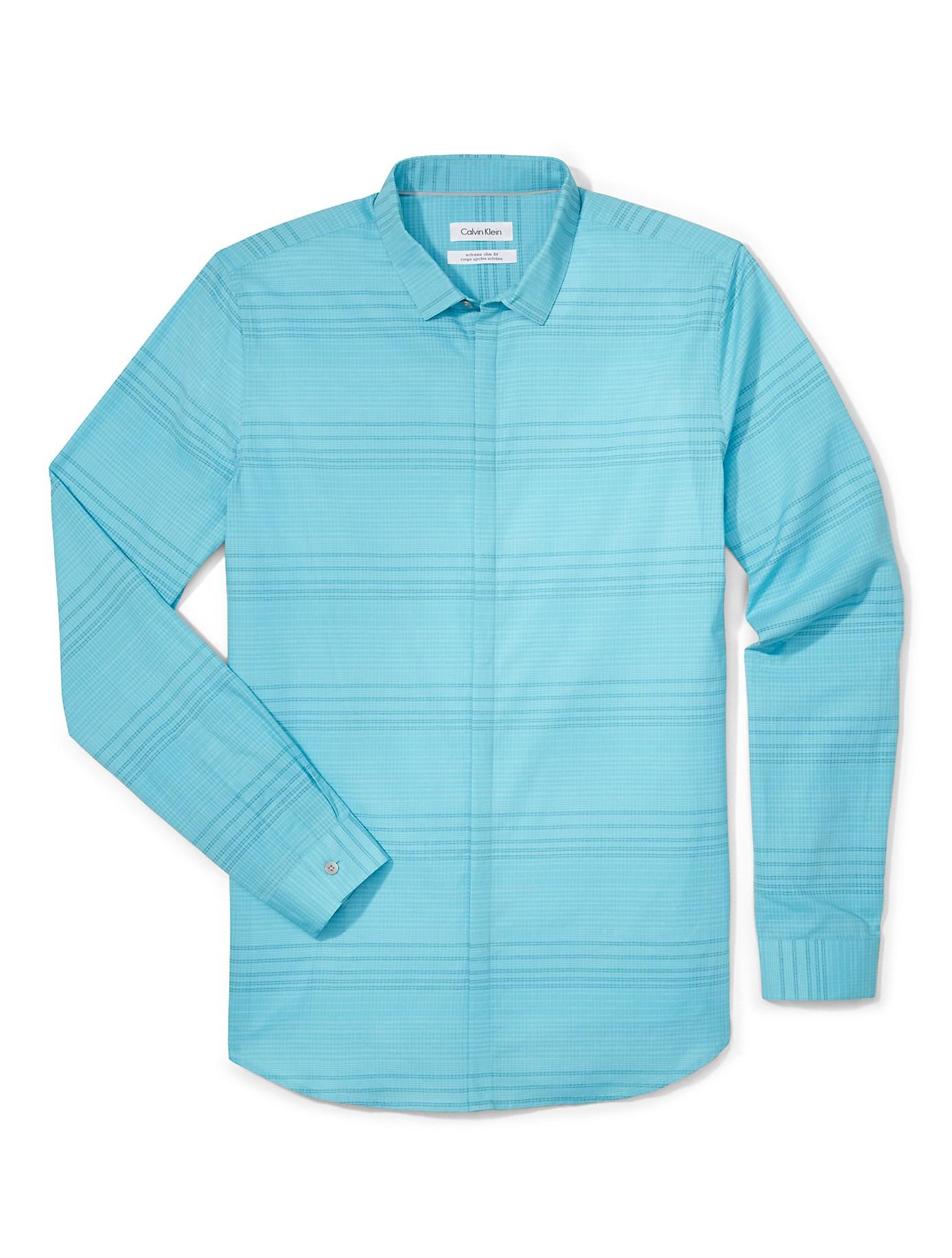 Calvin klein white label x fit ultra slim fit horizontal for Calvin klein x fit dress shirt