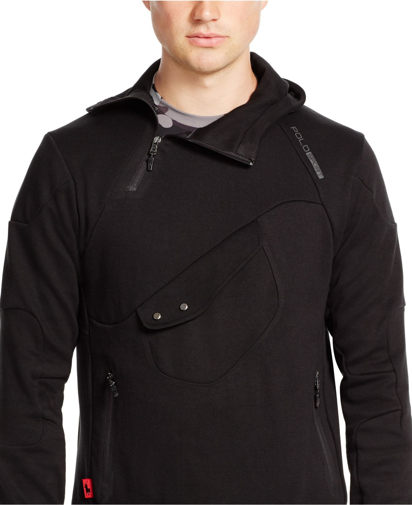 Buy Polo Ralph Lauren Men\u0027s Black Double-knit Tech Hoodie, starting at  $195. Similar products also available. SALE now on!