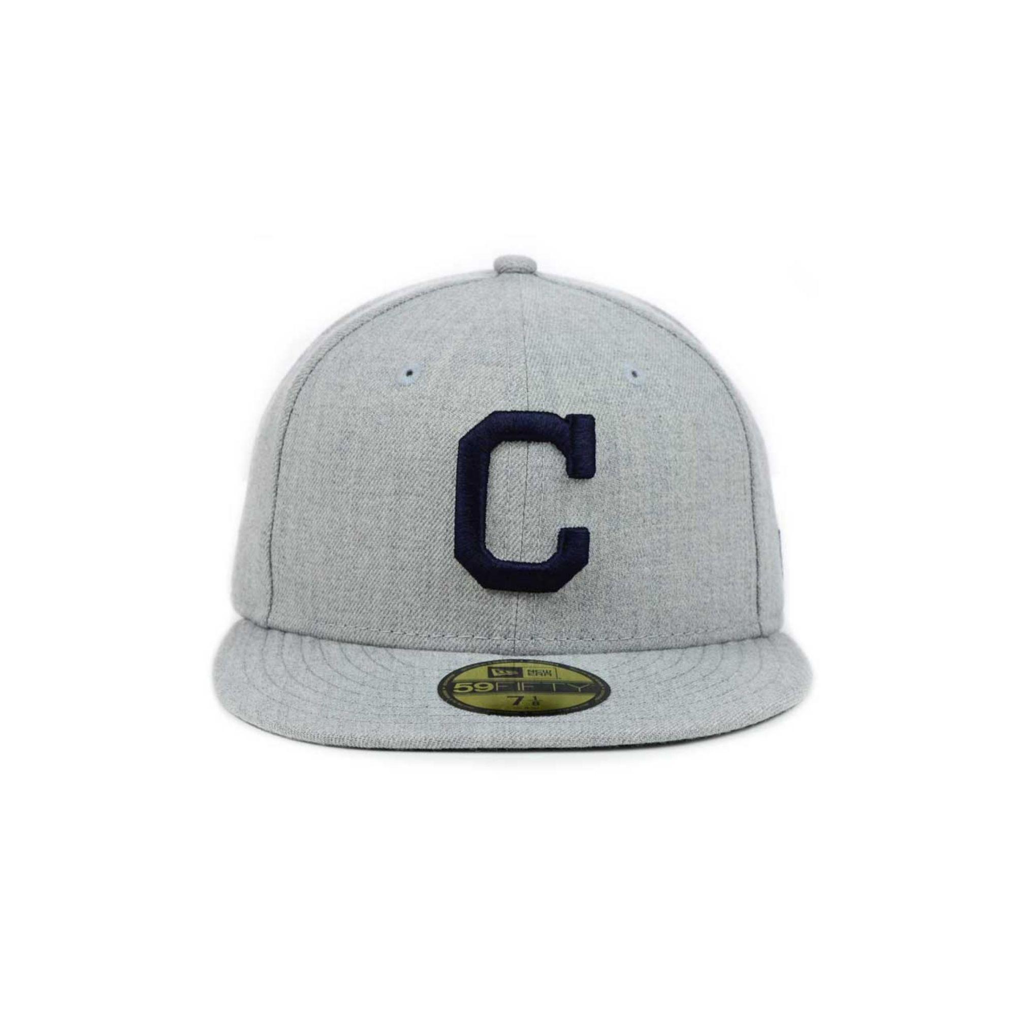 new styles 4fb24 15762 ... new zealand lyst ktz cleveland indians mlb heather basic 59fifty cap in  gray 8c35e c2509