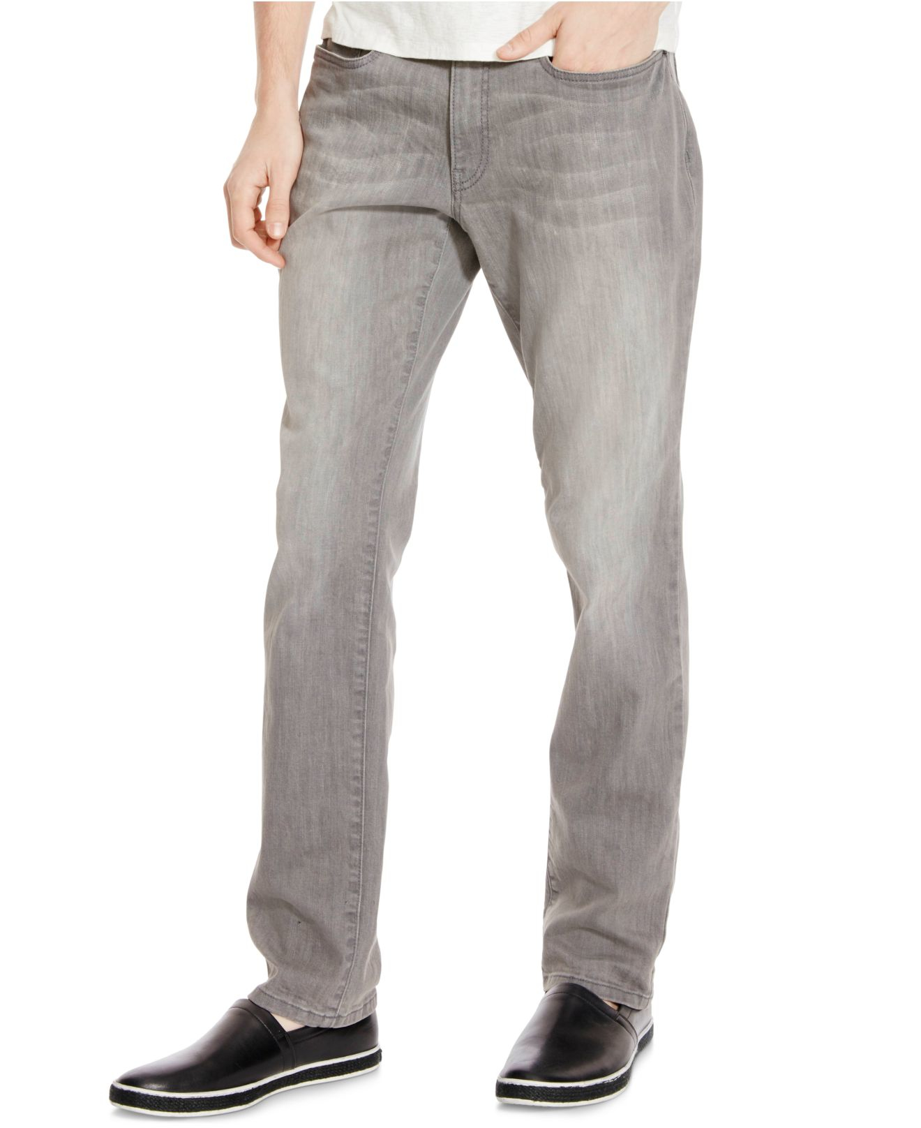 14a93d7f Kenneth Cole Reaction Men's Slim-fit Gray Wash Jeans in Gray for Men ...