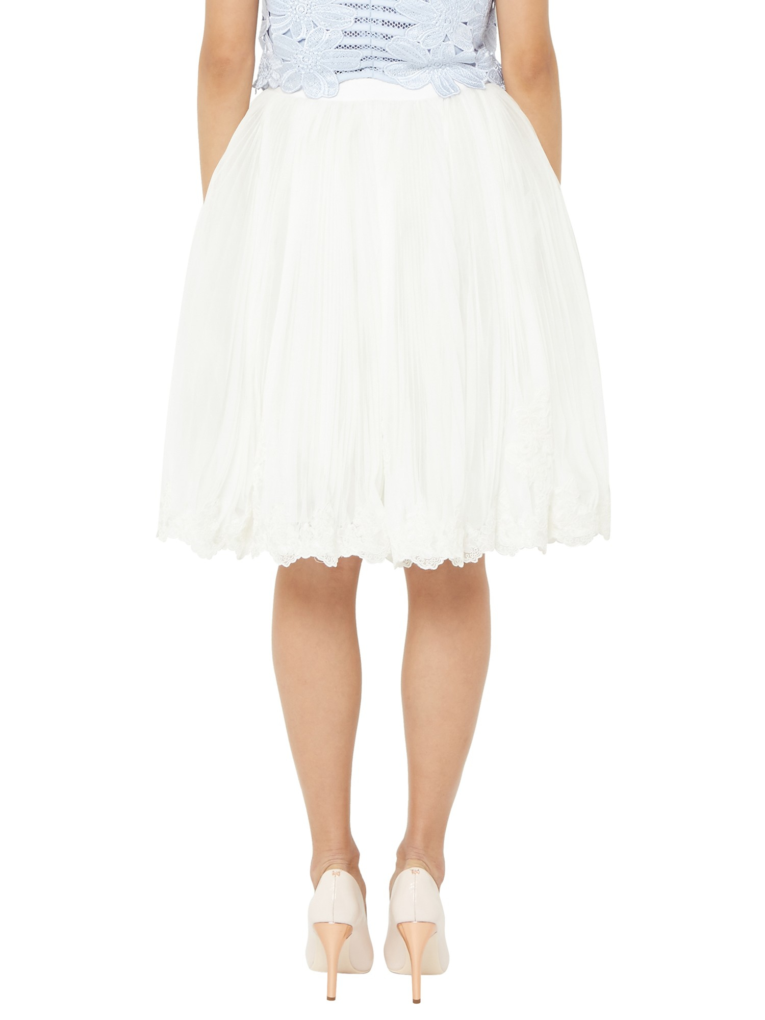 9bcfd13c24 Ted Baker Rynna Lace Scalloped Hem Tutu Skirt in White - Lyst