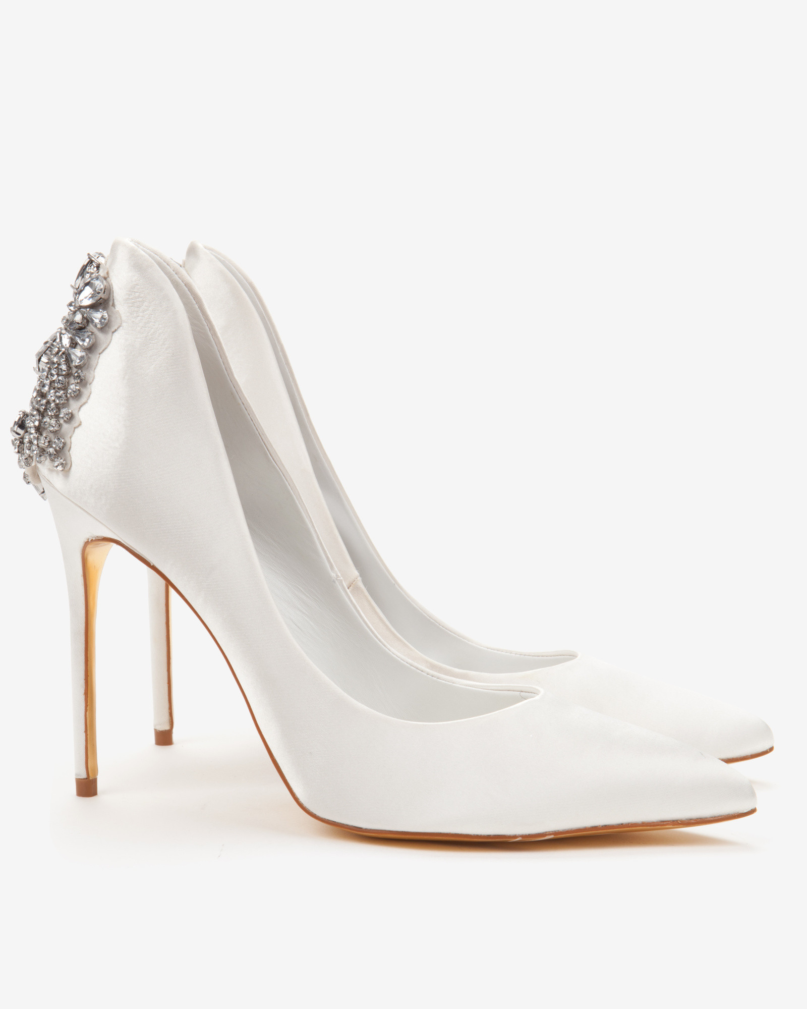 f97330fed0c Ted Baker Embellished Court Shoes in White - Lyst