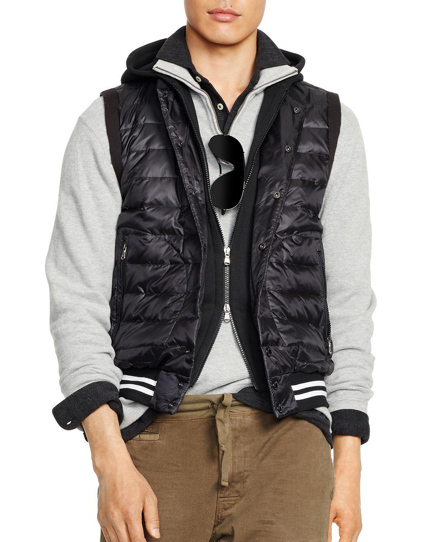 Lyst - Ralph Lauren Polo Hooded Down Vest in Black for Men