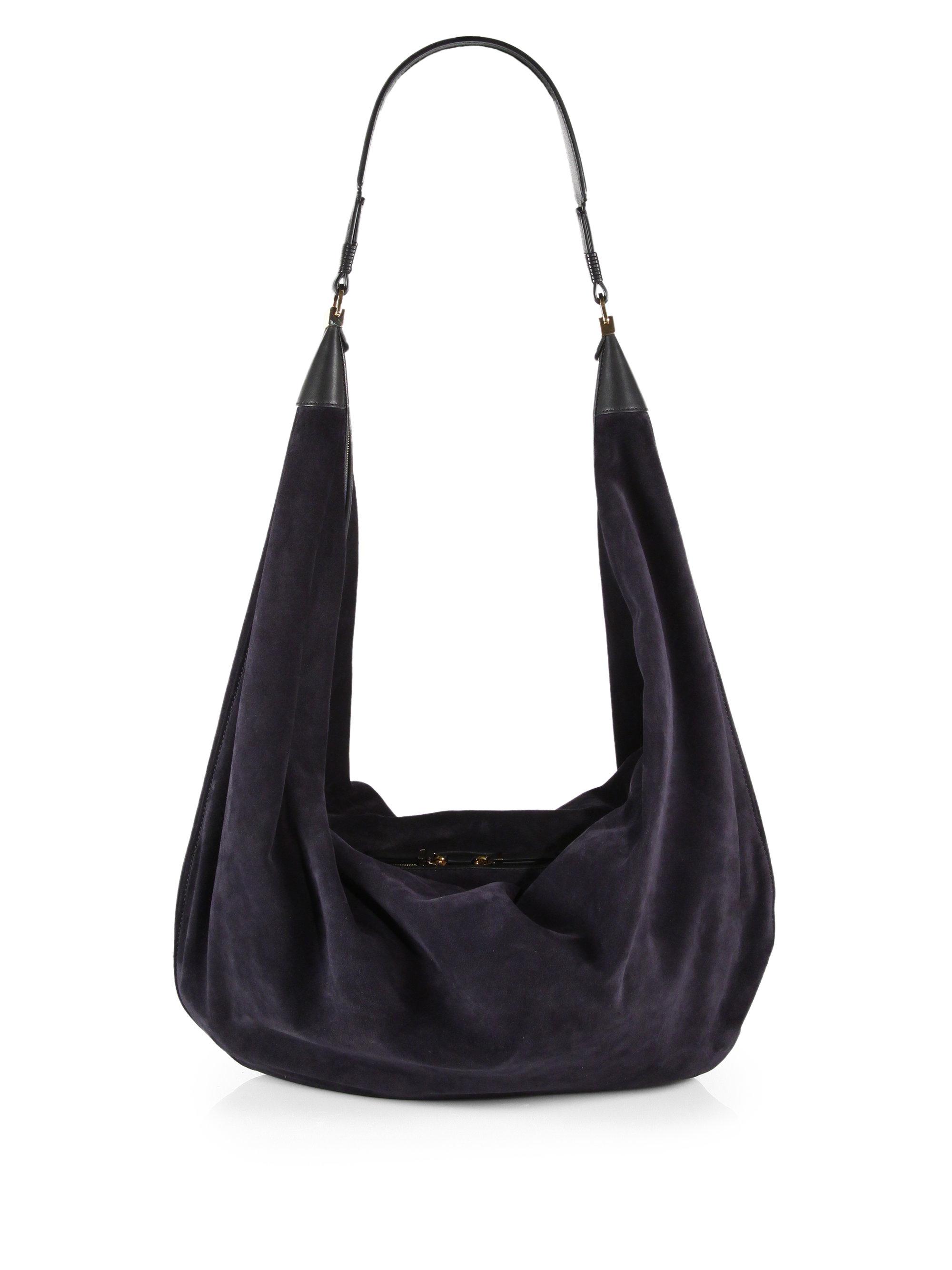 884638eef2ee Lyst - The Row Sling 15 Suede Hobo Bag in Blue