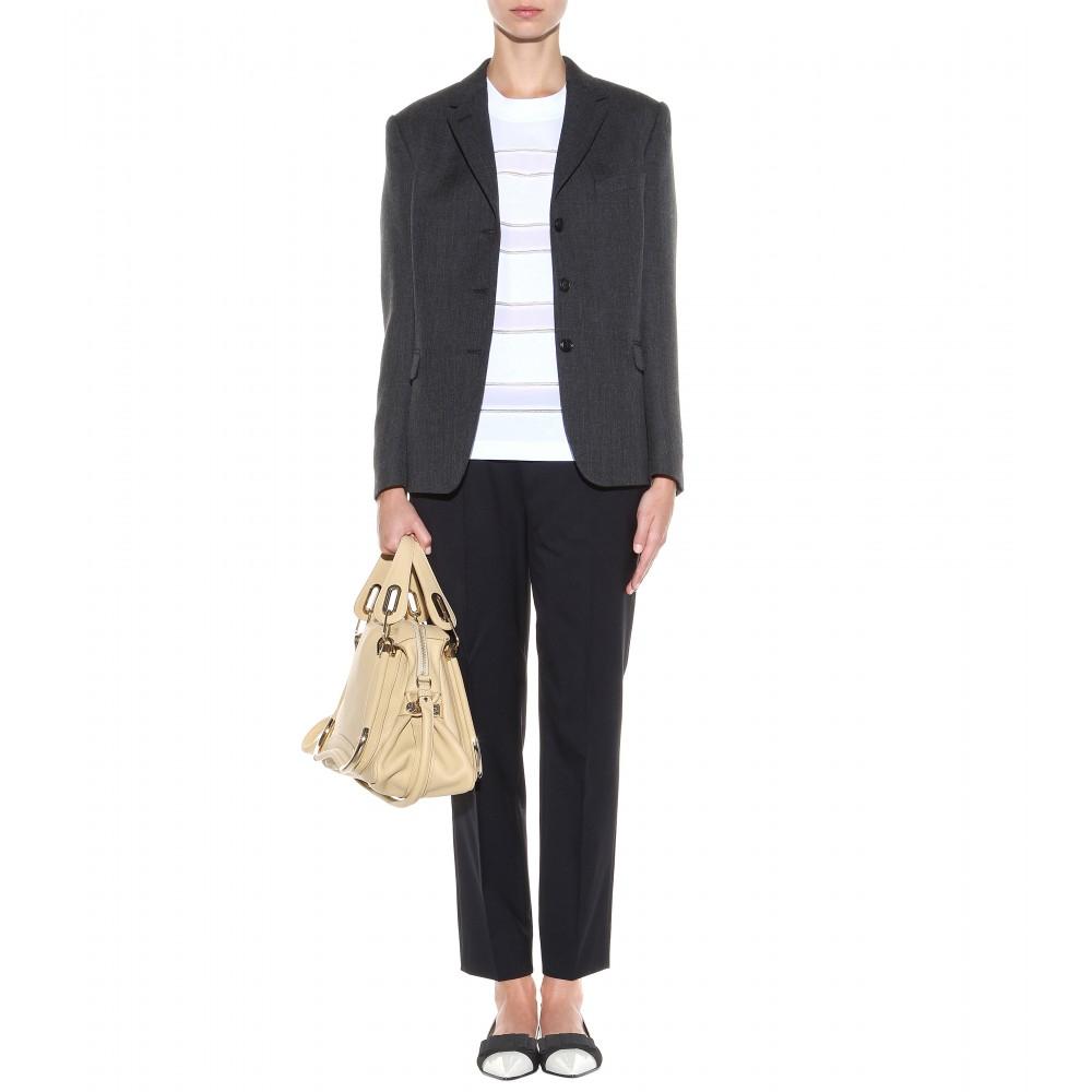 Chlo¨¦ Paraty Medium Leather Shoulder Bag in Beige (biscotti beige ...