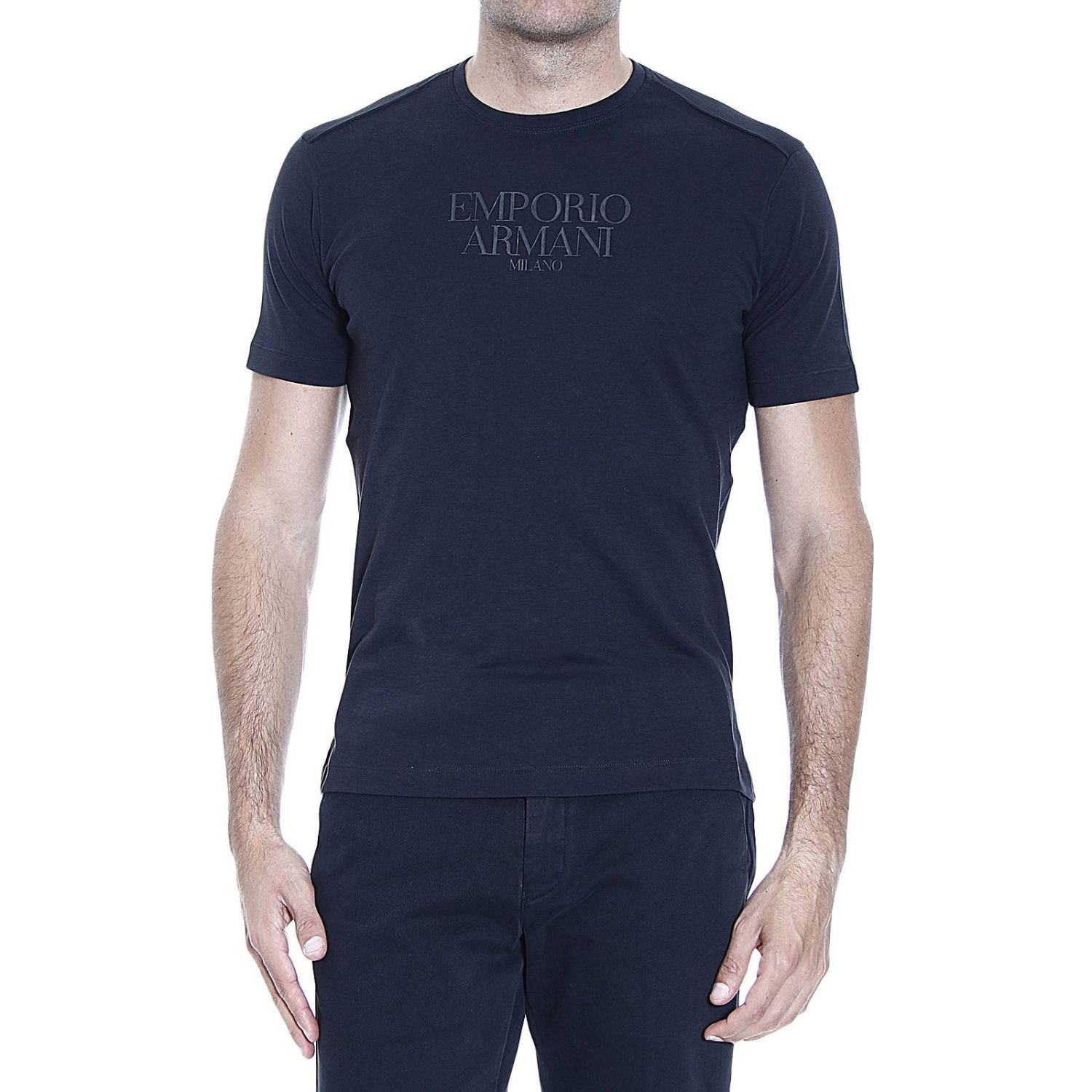 emporio armani t shirt in black for men lyst. Black Bedroom Furniture Sets. Home Design Ideas