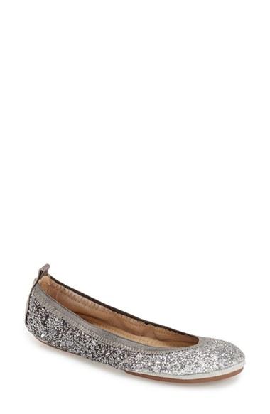 e922ec8445fe Yosi Samra Serena Foldable Ballet Flats in Metallic - Lyst