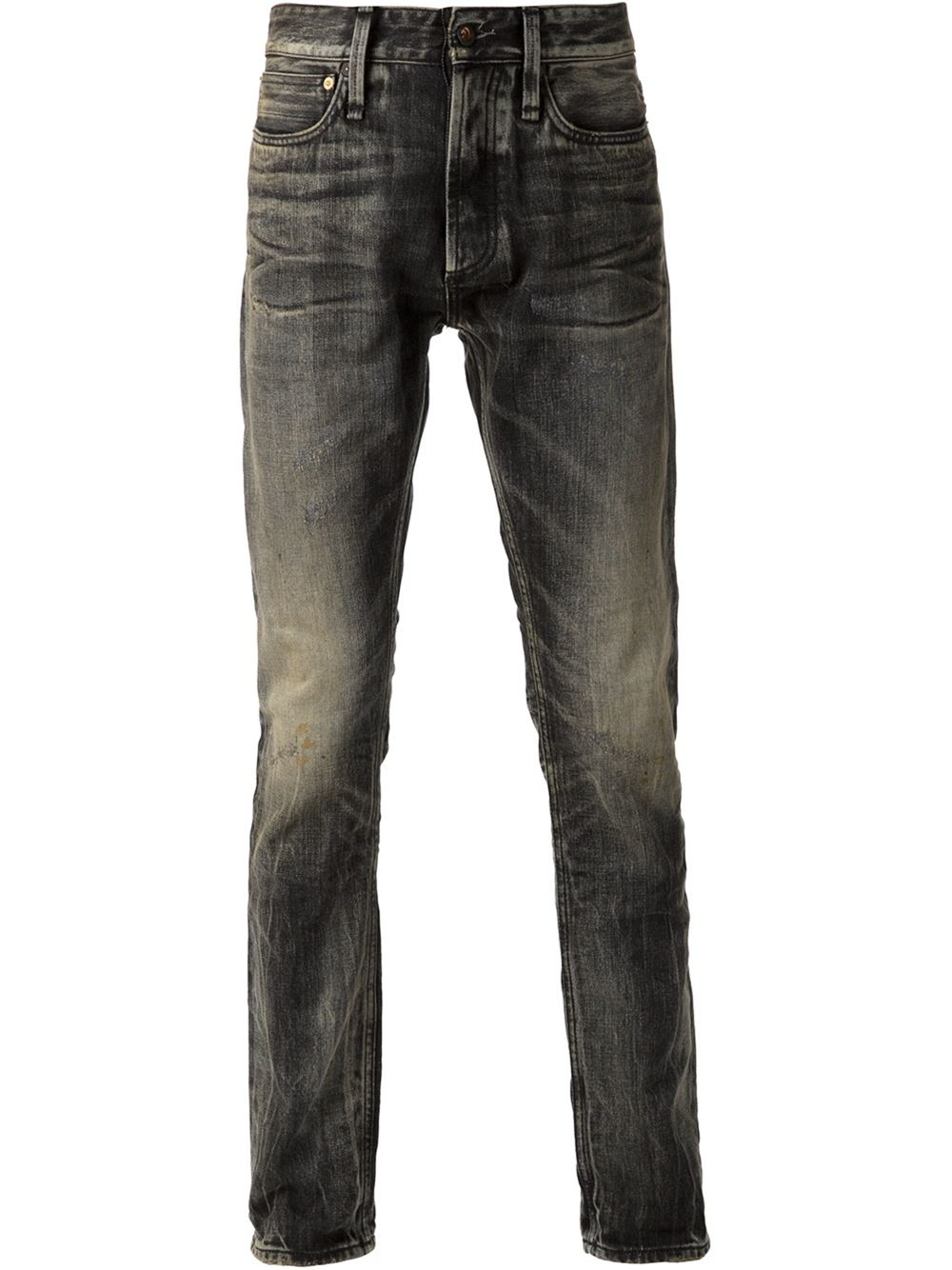 Black Faded Jeans Mens - Jeans Am