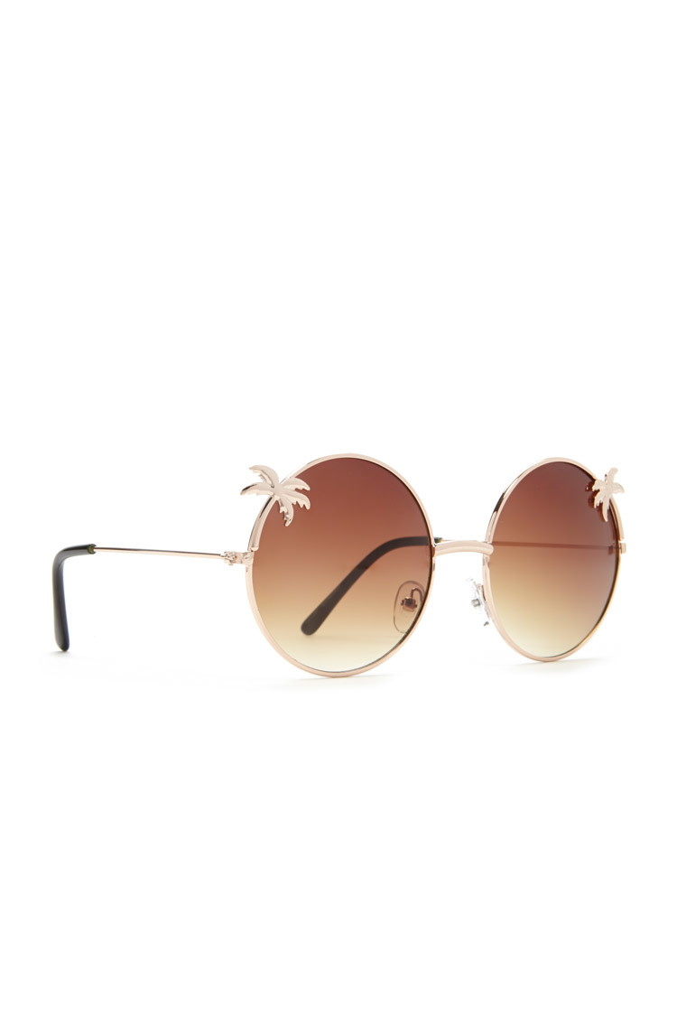 Sunglasses With Palm Trees  forever 21 palm tree round sunglasses you ve been added to the