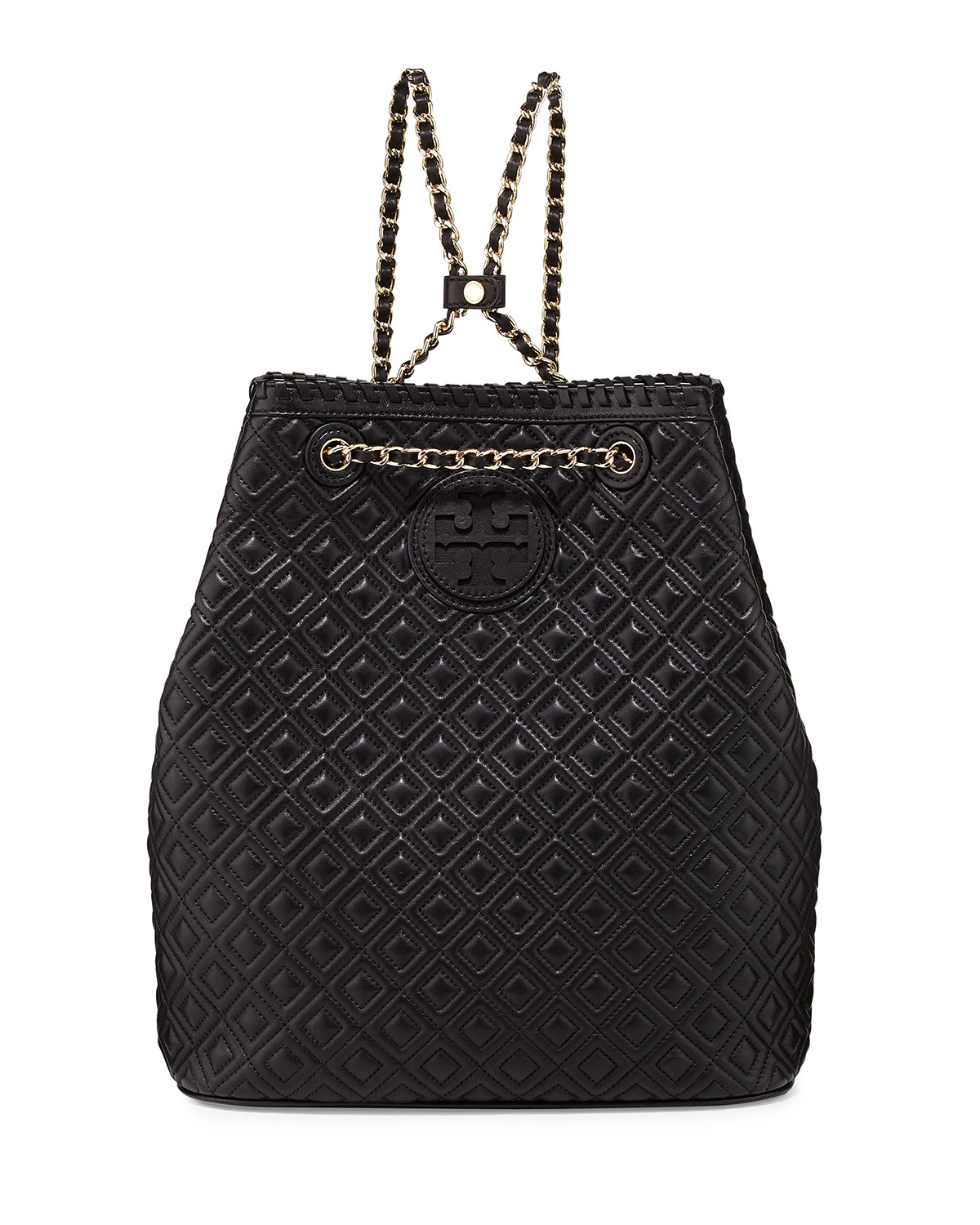 Tory Burch Marion Quilted Leather Backpack In Black Lyst