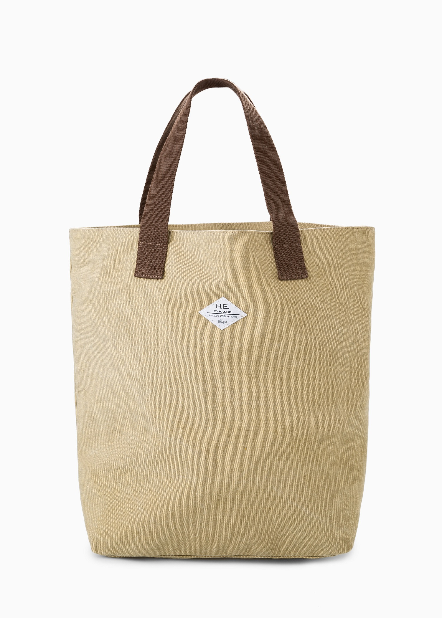 Mango Cotton Canvas Bag in Natural for Men | Lyst