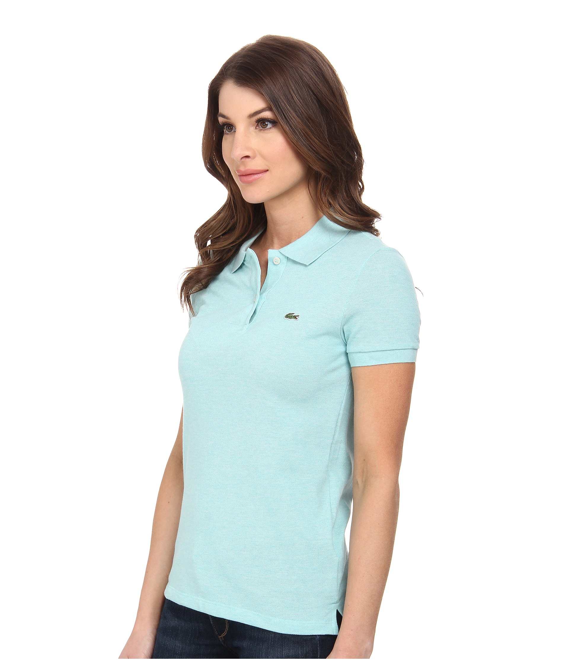 de6006c3 Polo Shirt Bibloo.com Lacoste Polo Women: Lacoste Short Sleeve Classic Fit  Pique Polo Shirt