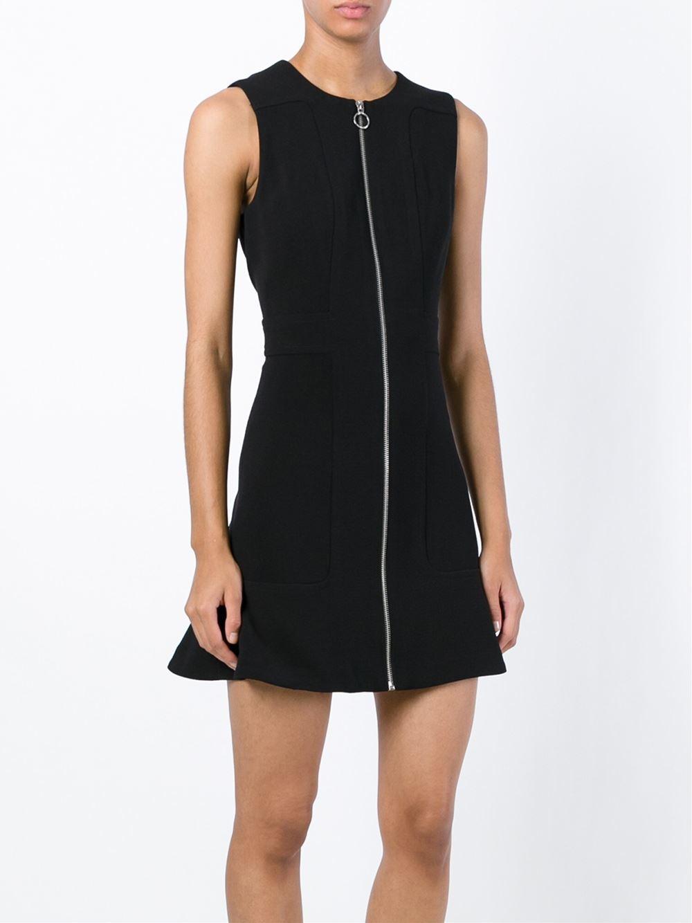 Michael Michael Kors Front Zip Dress In Black Lyst