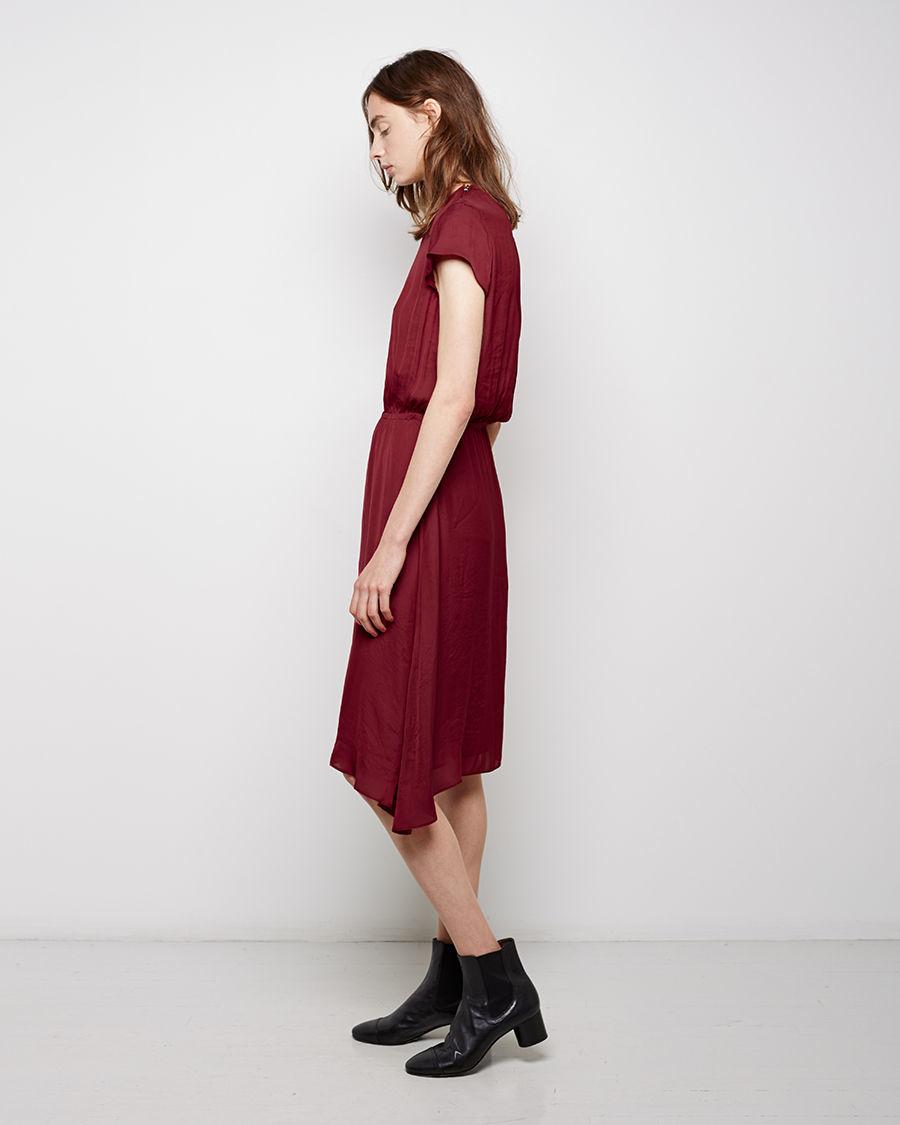 lyst toile isabel marant brazen crepe dress in red. Black Bedroom Furniture Sets. Home Design Ideas